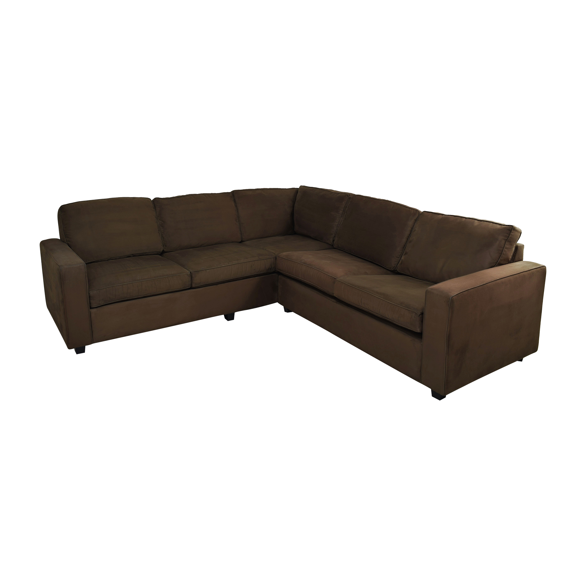L-Shaped Sleeper Sofa brown