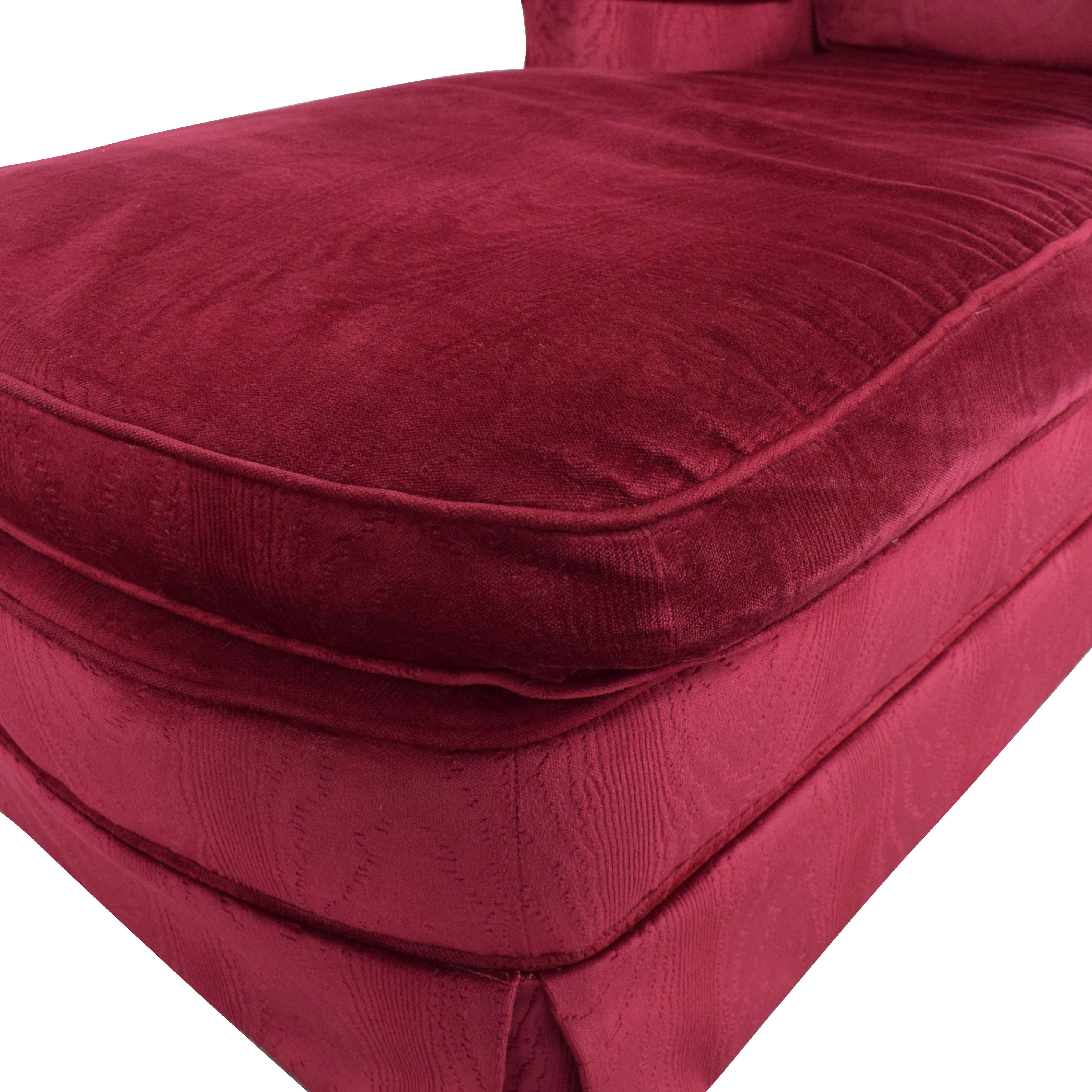 Vintage Upholstered Chaise on sale