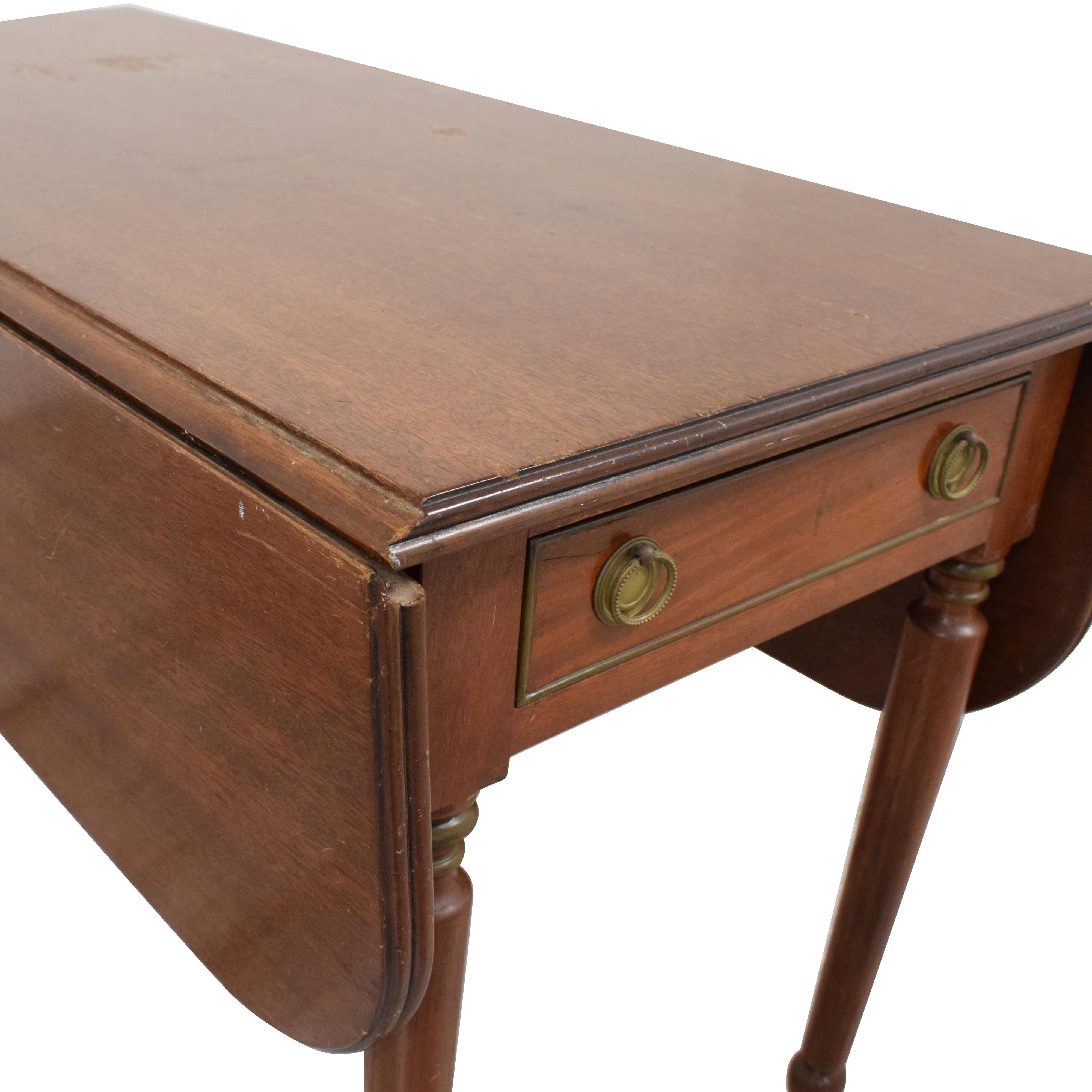 American Federal Drop Leaf Console Table A-America Wood Furniture