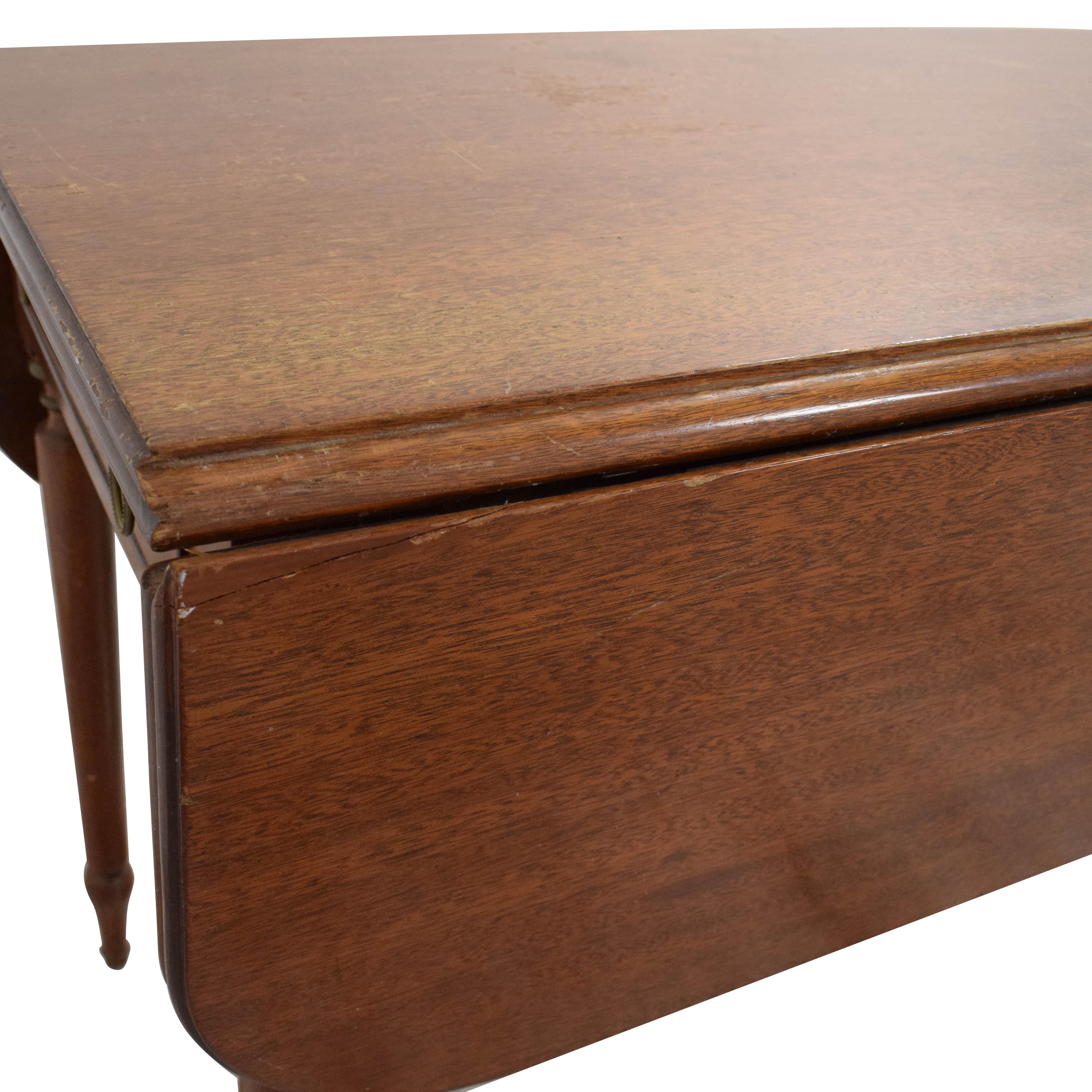 shop American Federal Drop Leaf Console Table A-America Wood Furniture