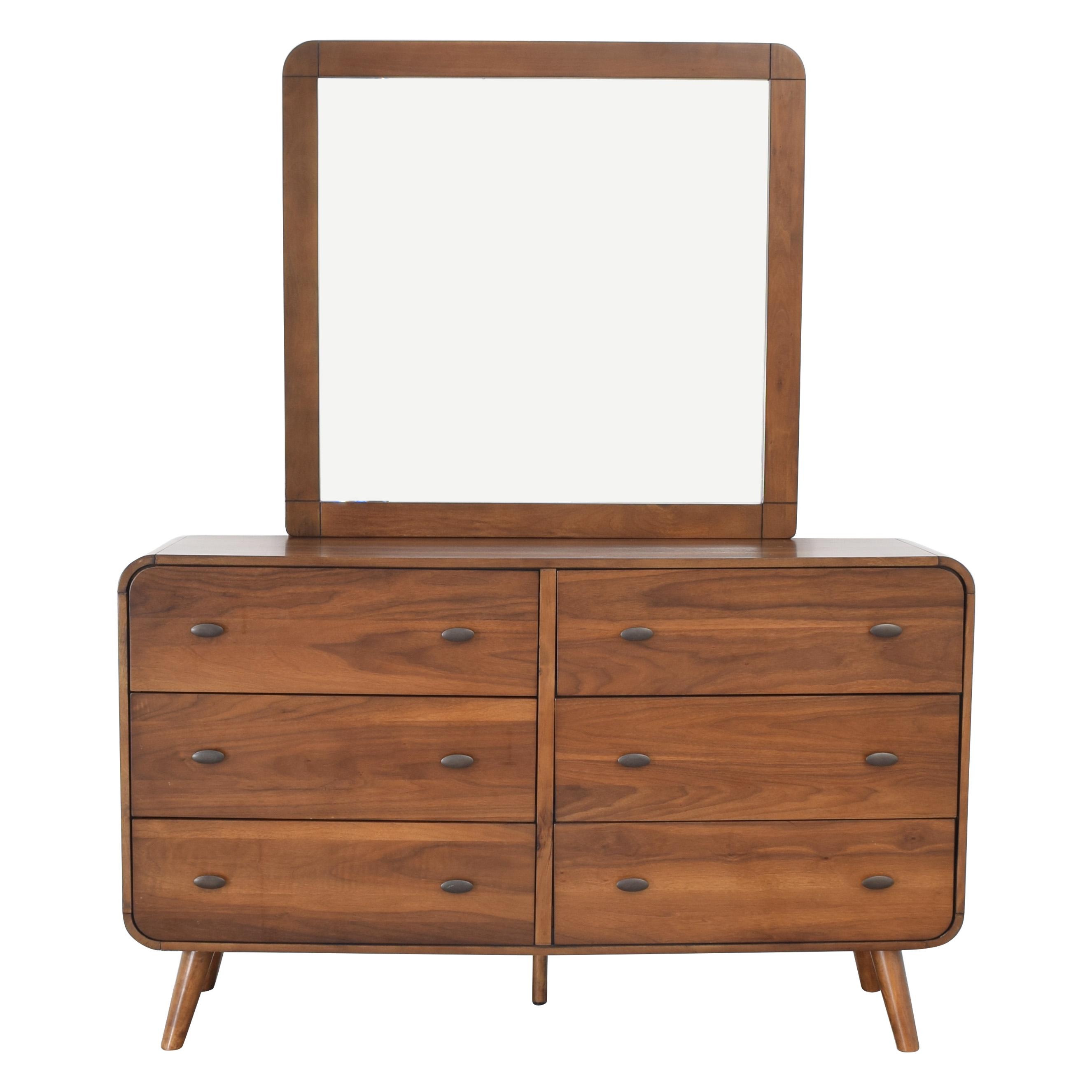 Coaster Fine Furniture Coaster Robyn Dark Walnut Dresser with Mirror Storage