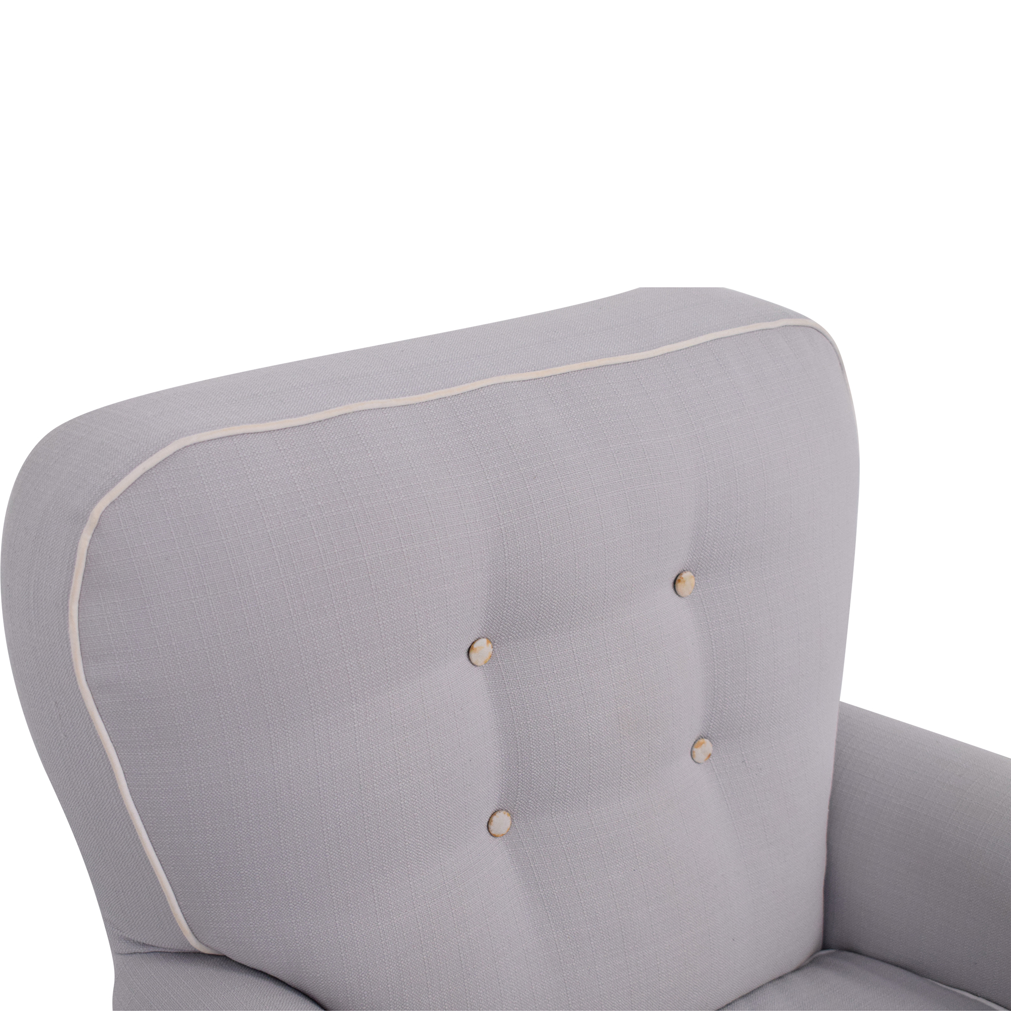 Tufted Glider Swivel Rocker Chair