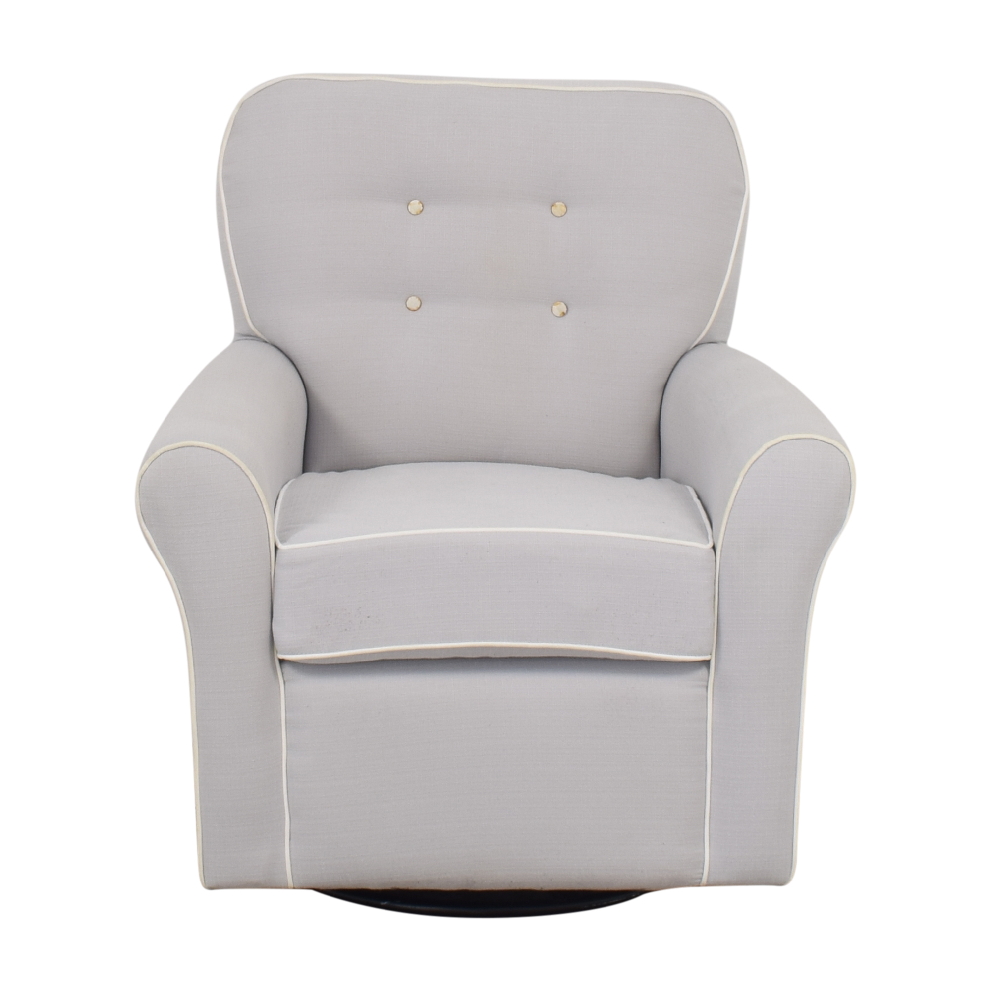 Tufted Glider Swivel Rocker Chair dimensions
