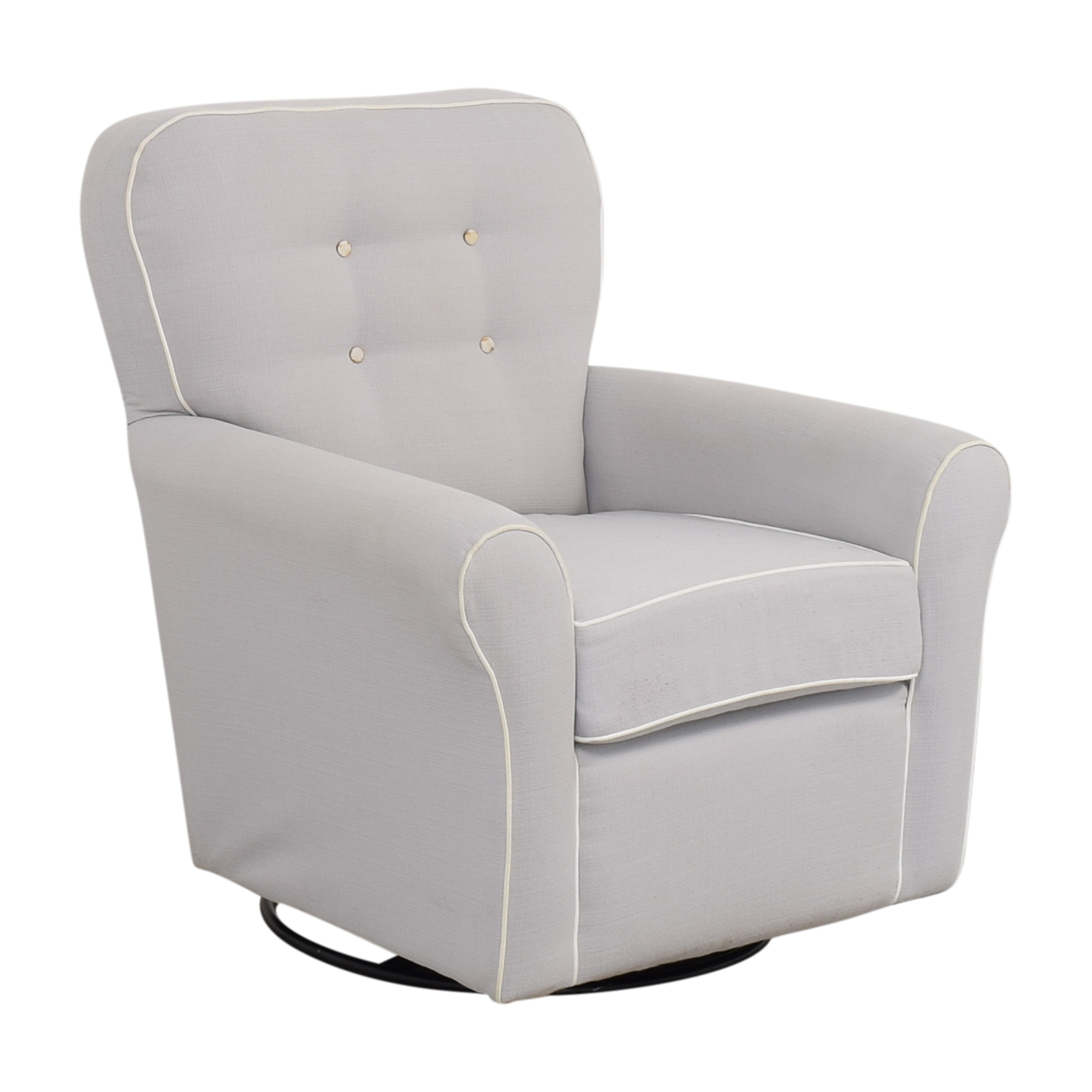 Tufted Glider Swivel Rocker Chair ma
