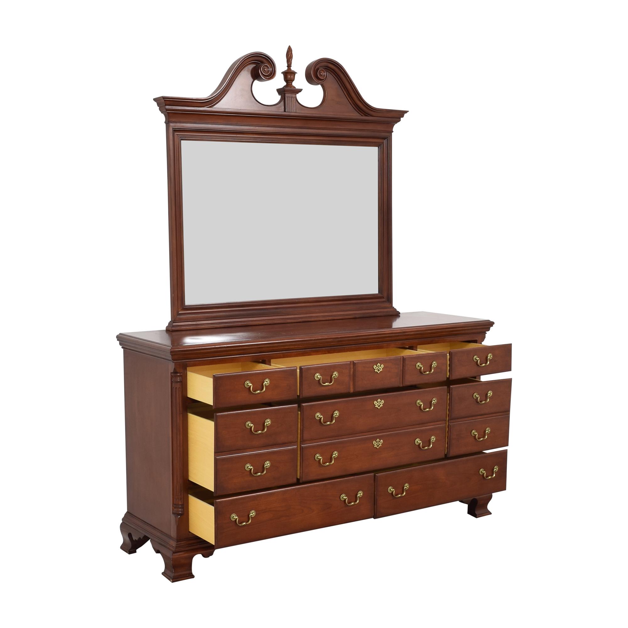 buy Thomasville Eight Drawer Dresser with Mirror Thomasville Dressers