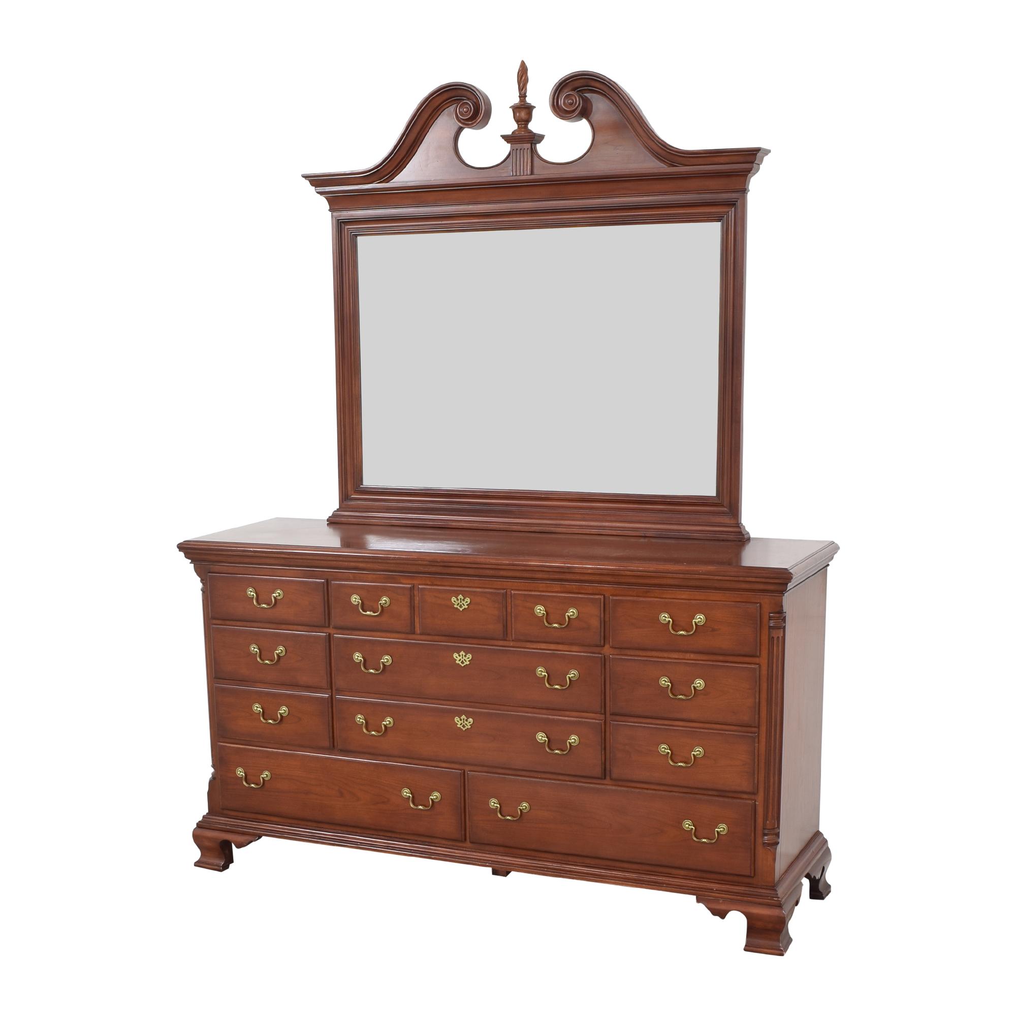buy Thomasville Thomasville Eight Drawer Dresser with Mirror online