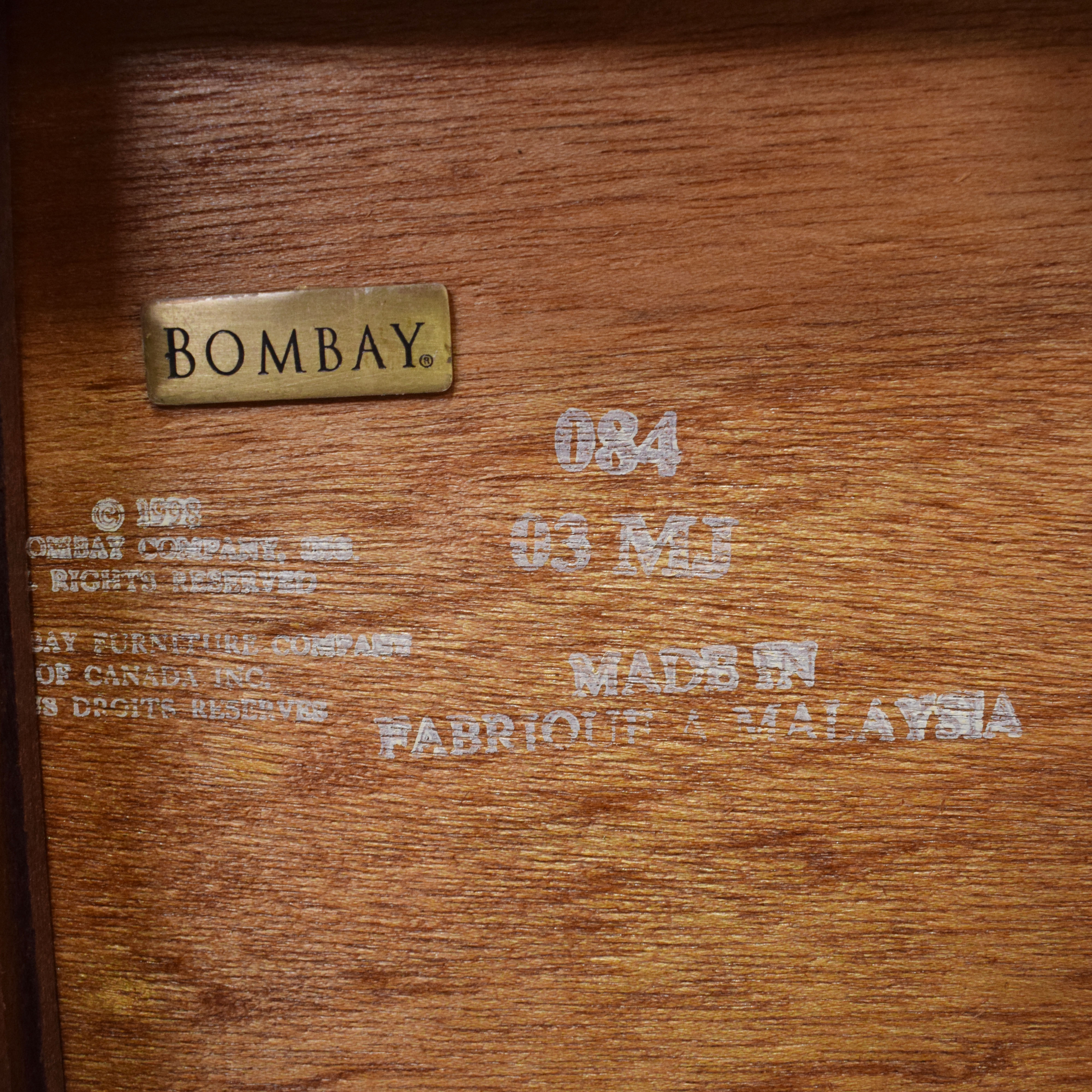 Bombay Company Bombay Company Hutch Display Cabinet for sale