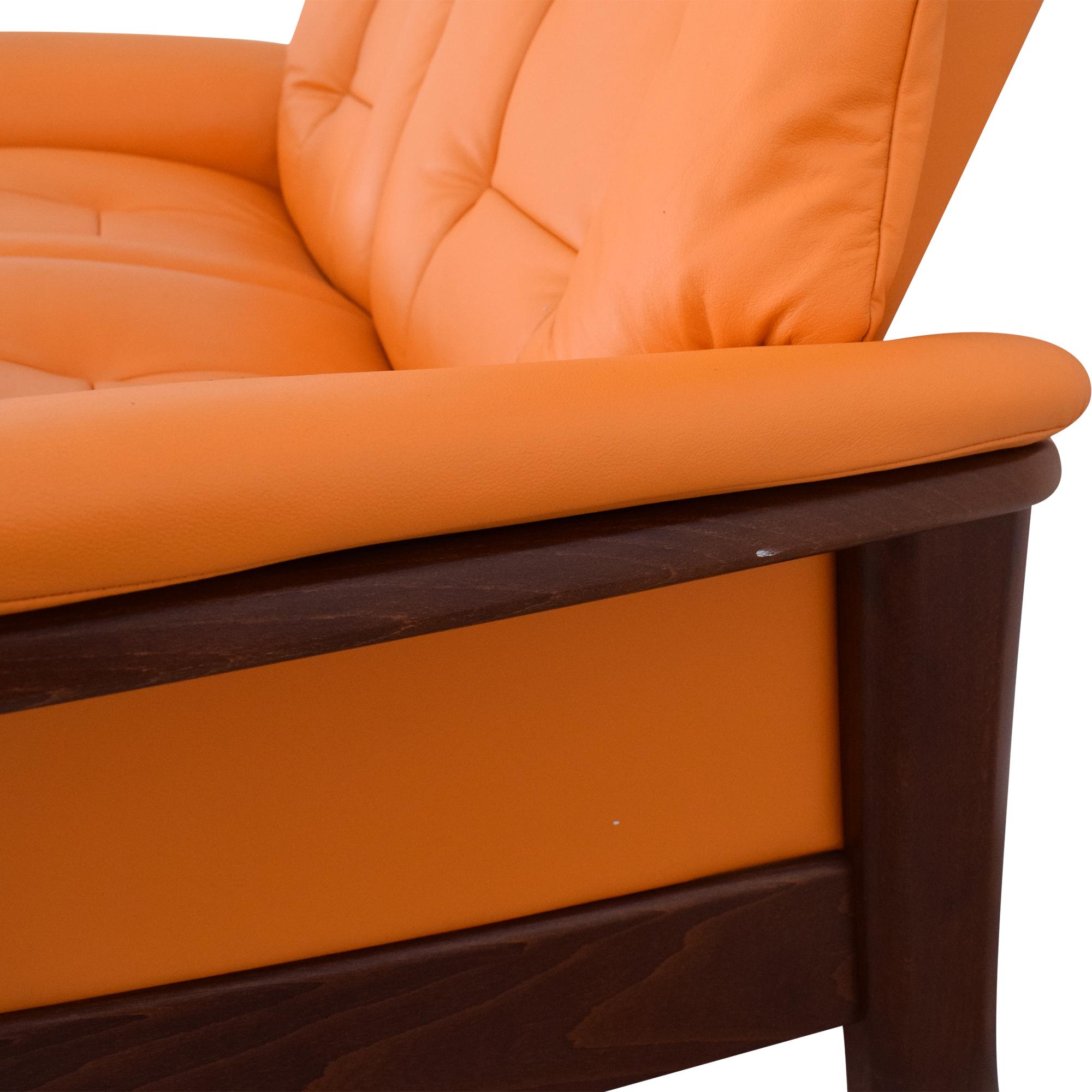 Ekornes Ekornes Stressless Buckingham High Back Two Seater orange & brown