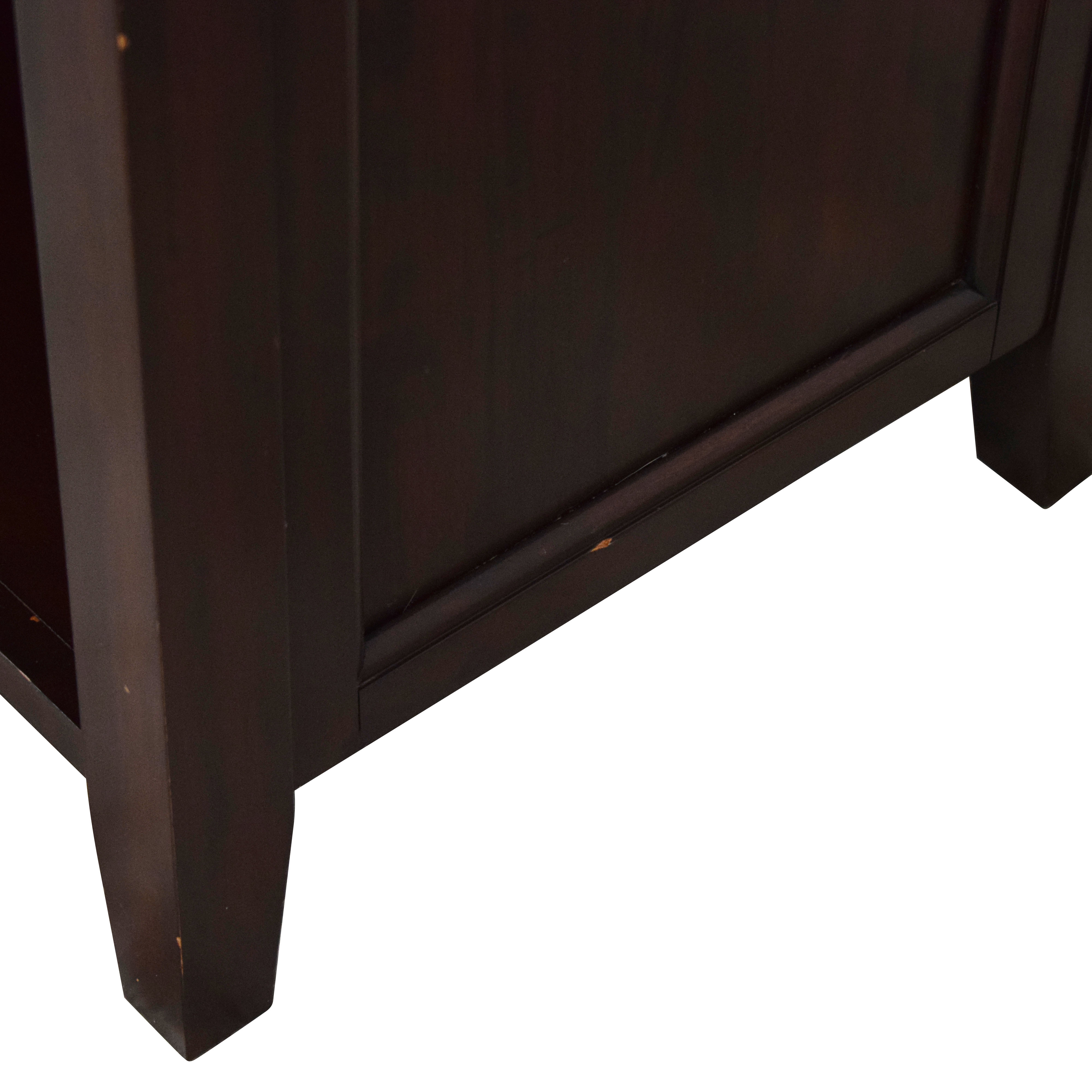 shop Pottery Barn Hudson Wide Nightstand Pottery Barn End Tables