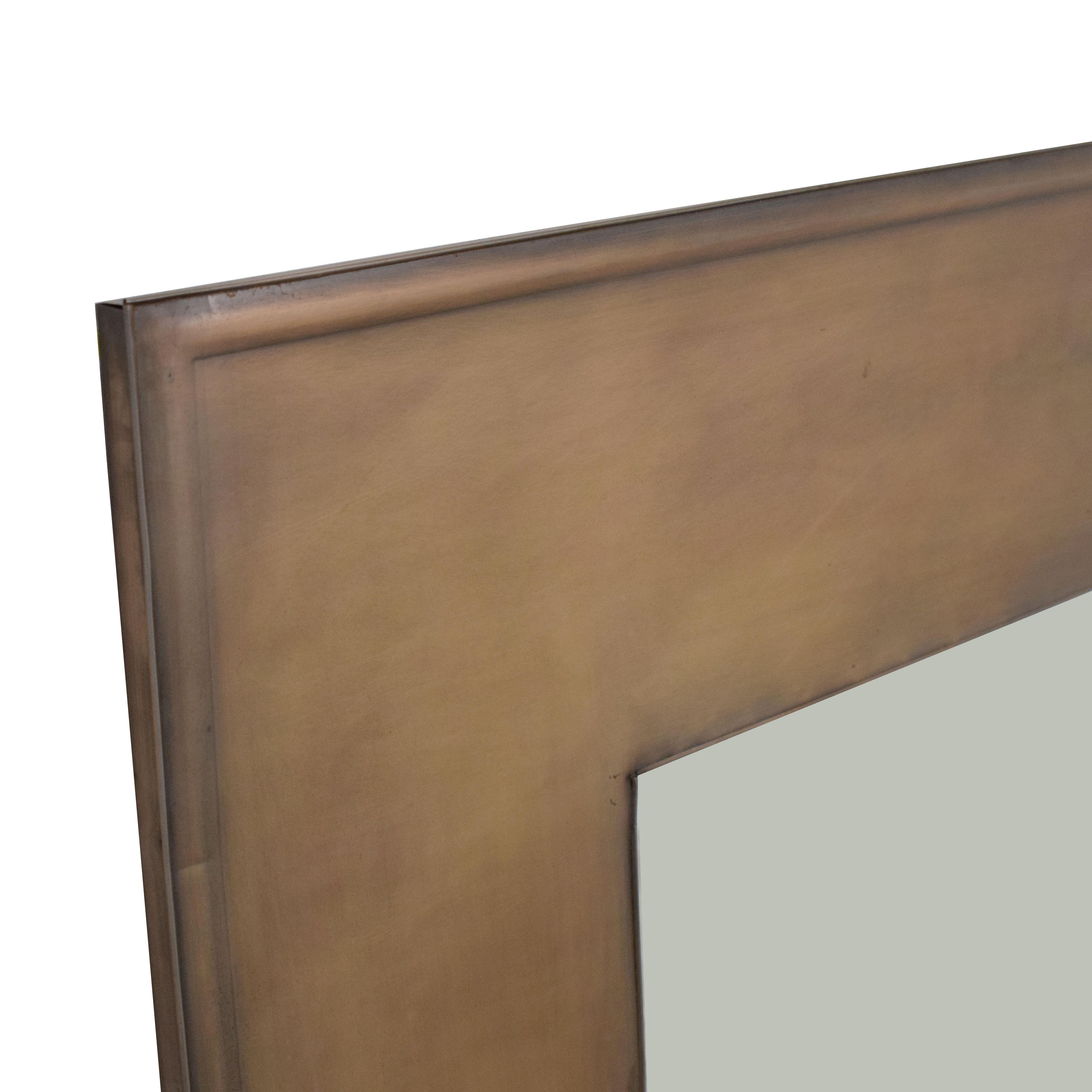 shop Crate & Barrel Antique Bronze Mirror Crate & Barrel Mirrors