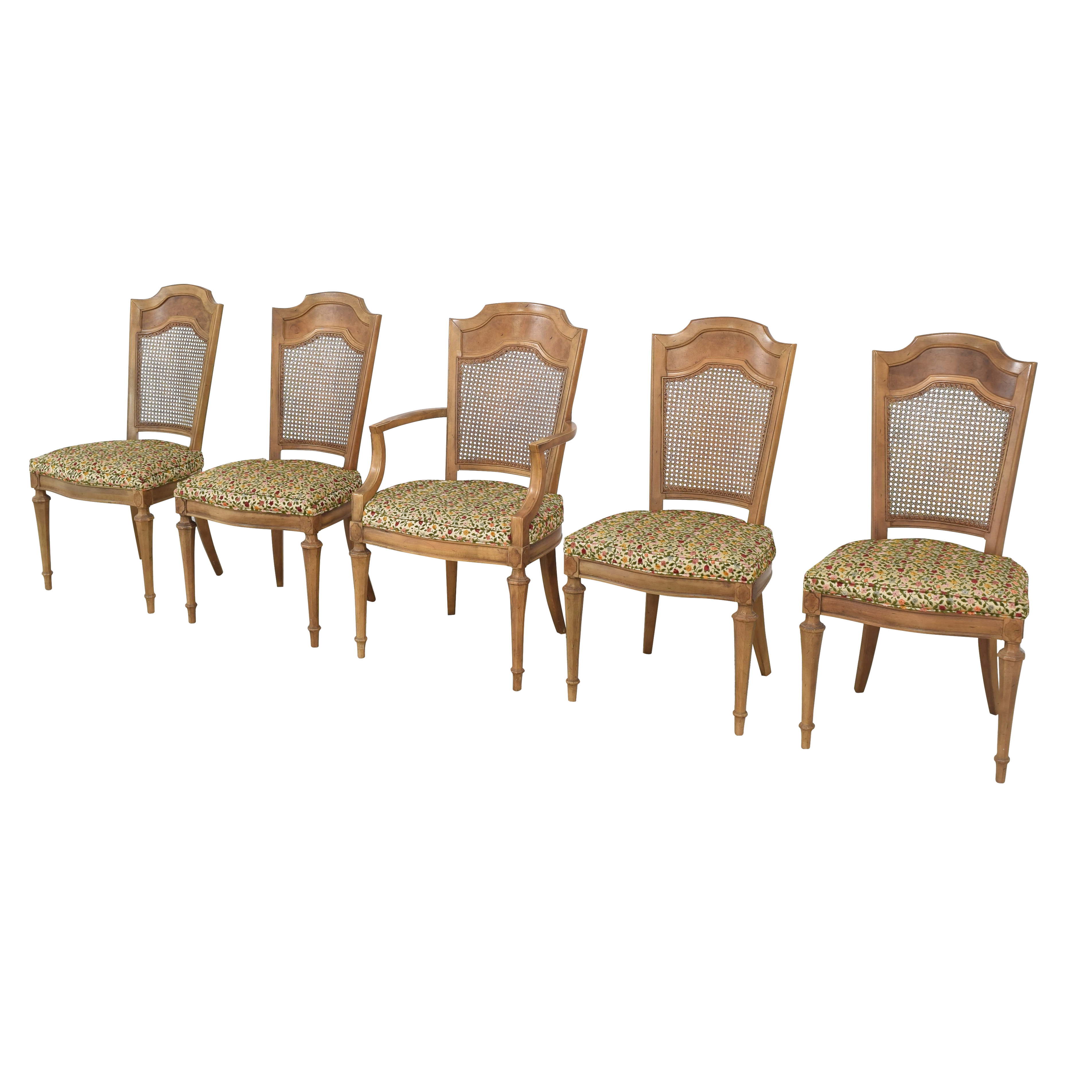 Upholstered Cane Back Dining Chairs nyc