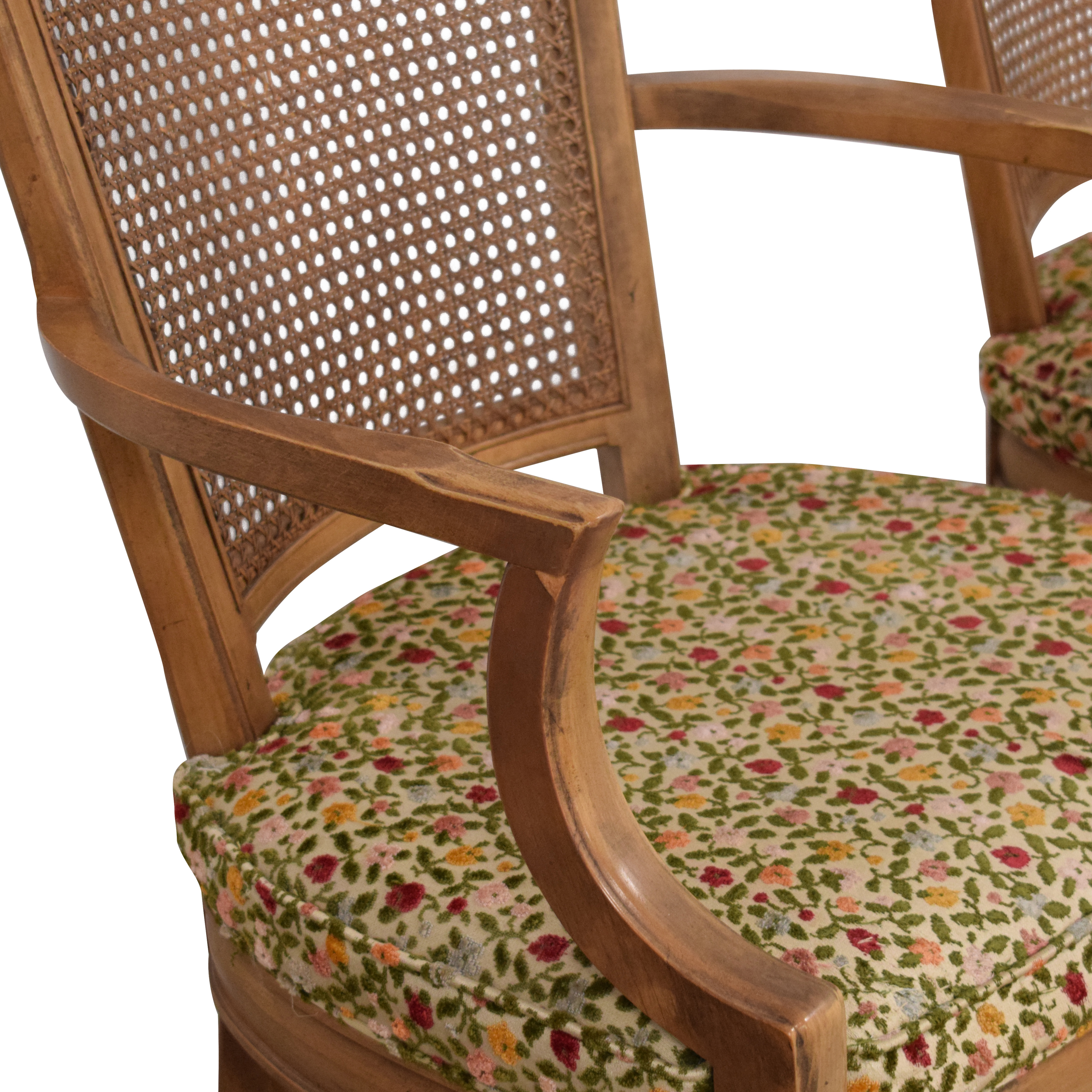 buy  Upholstered Cane Back Dining Chairs online