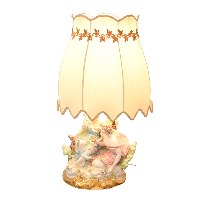 Capodimonte Porcelain Figurine Lamp / Decor