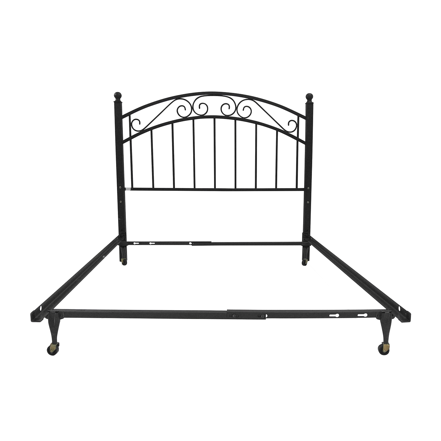 Crate and Barrel Full Iron Bed Frame and Headboard sale