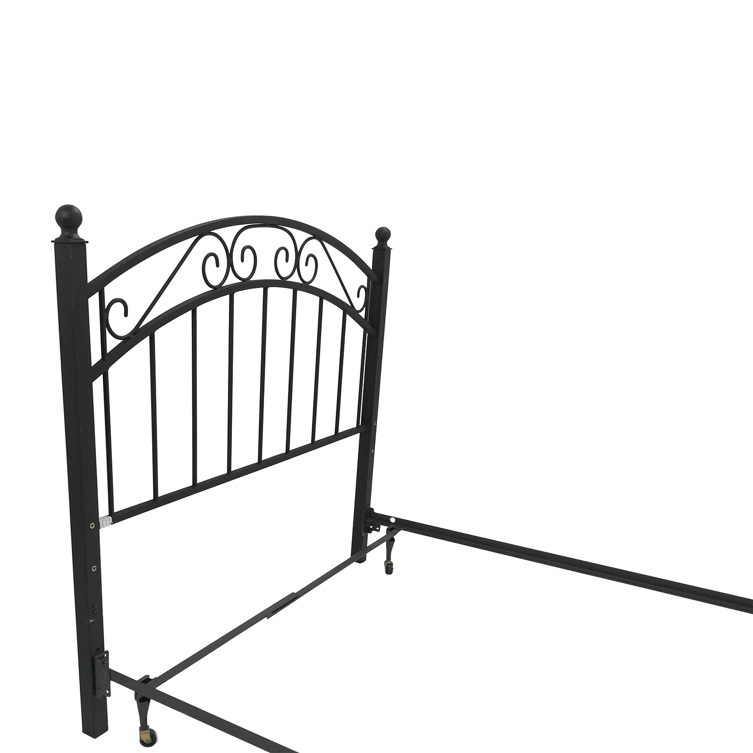 buy Crate and Barrel Full Iron Bed Frame and Headboard Crate and Barrel