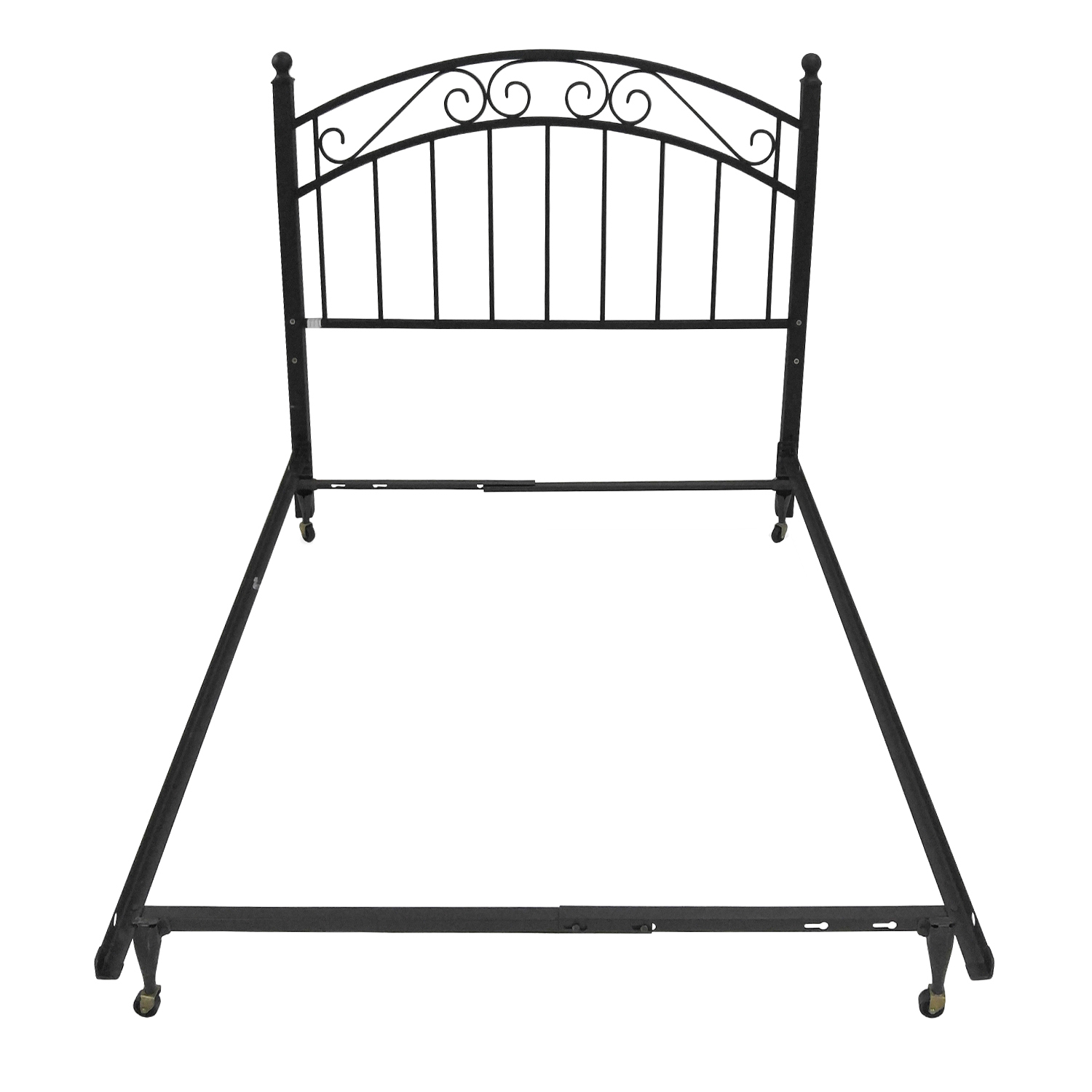 Crate and Barrel Full Iron Bed Frame and Headboard / Bed Frames