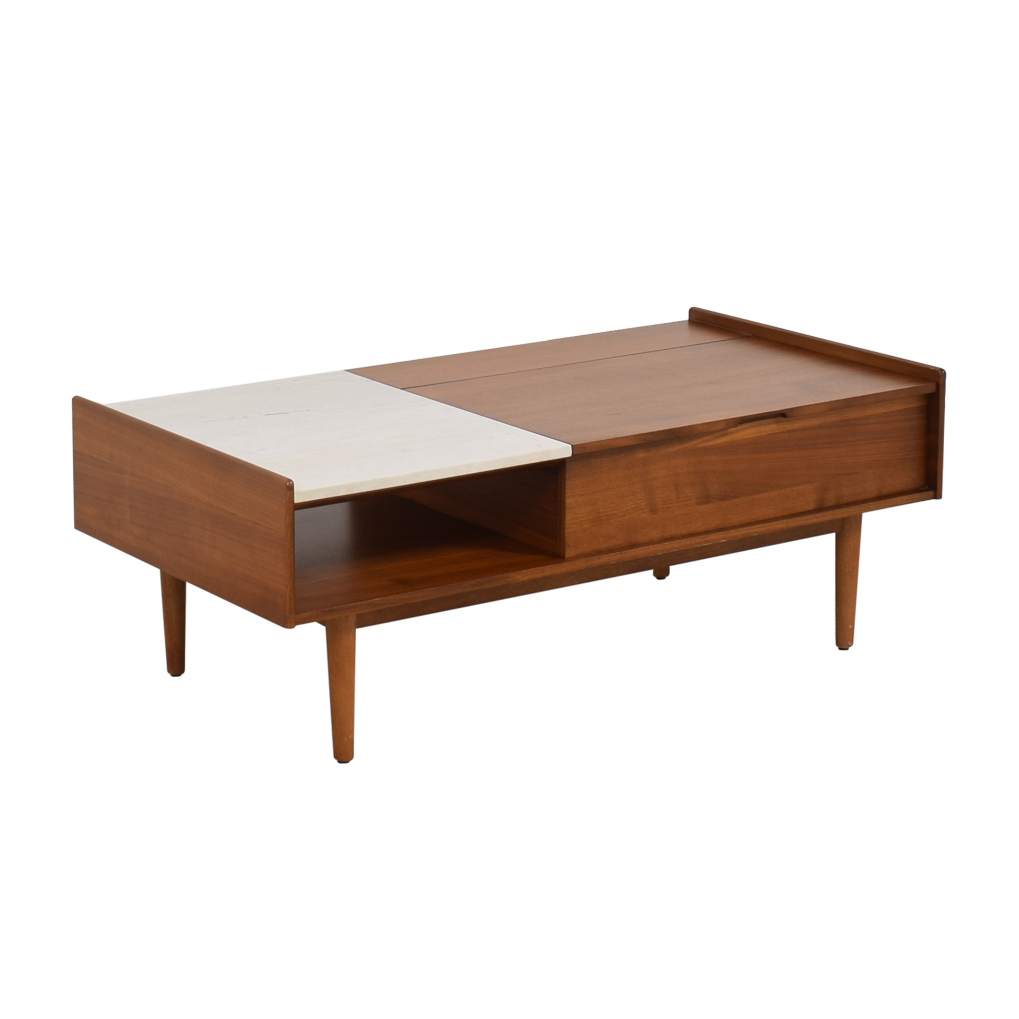 West Elm West Elm Mid-Century Pop-Up Storage Coffee Table ct