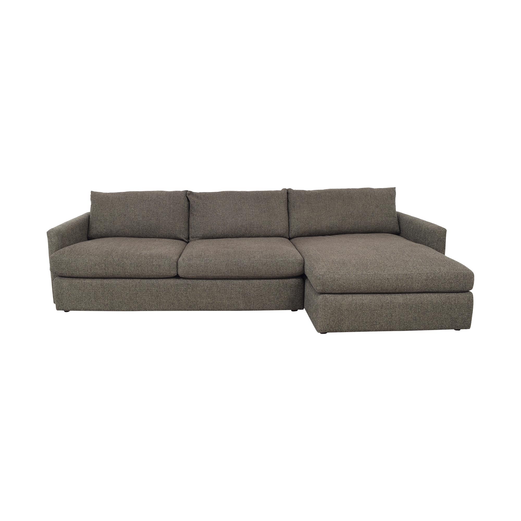 Crate & Barrel Crate & Barrel Lounge II 2-Piece Sectional Sofa nj