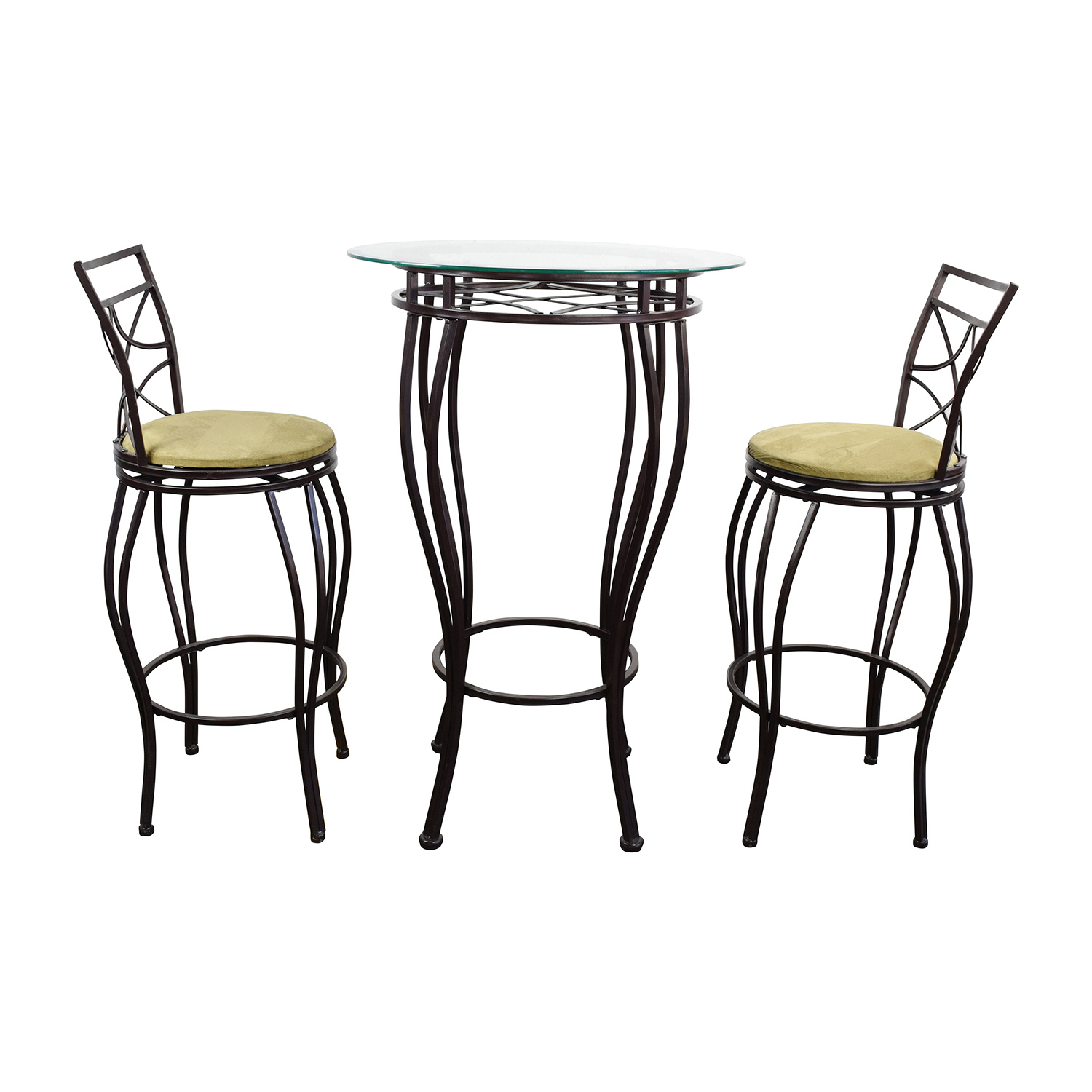 buy Iron Bistro Table and Two Chairs