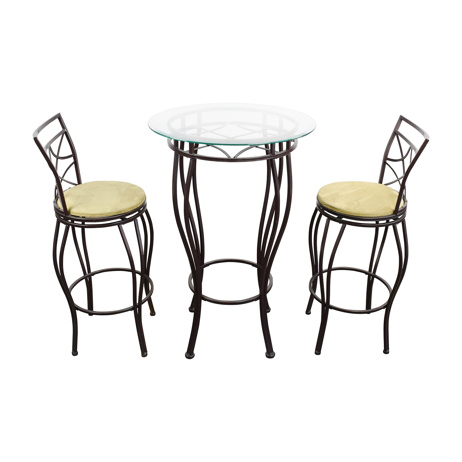Iron Bistro Table and Two Chairs Tables