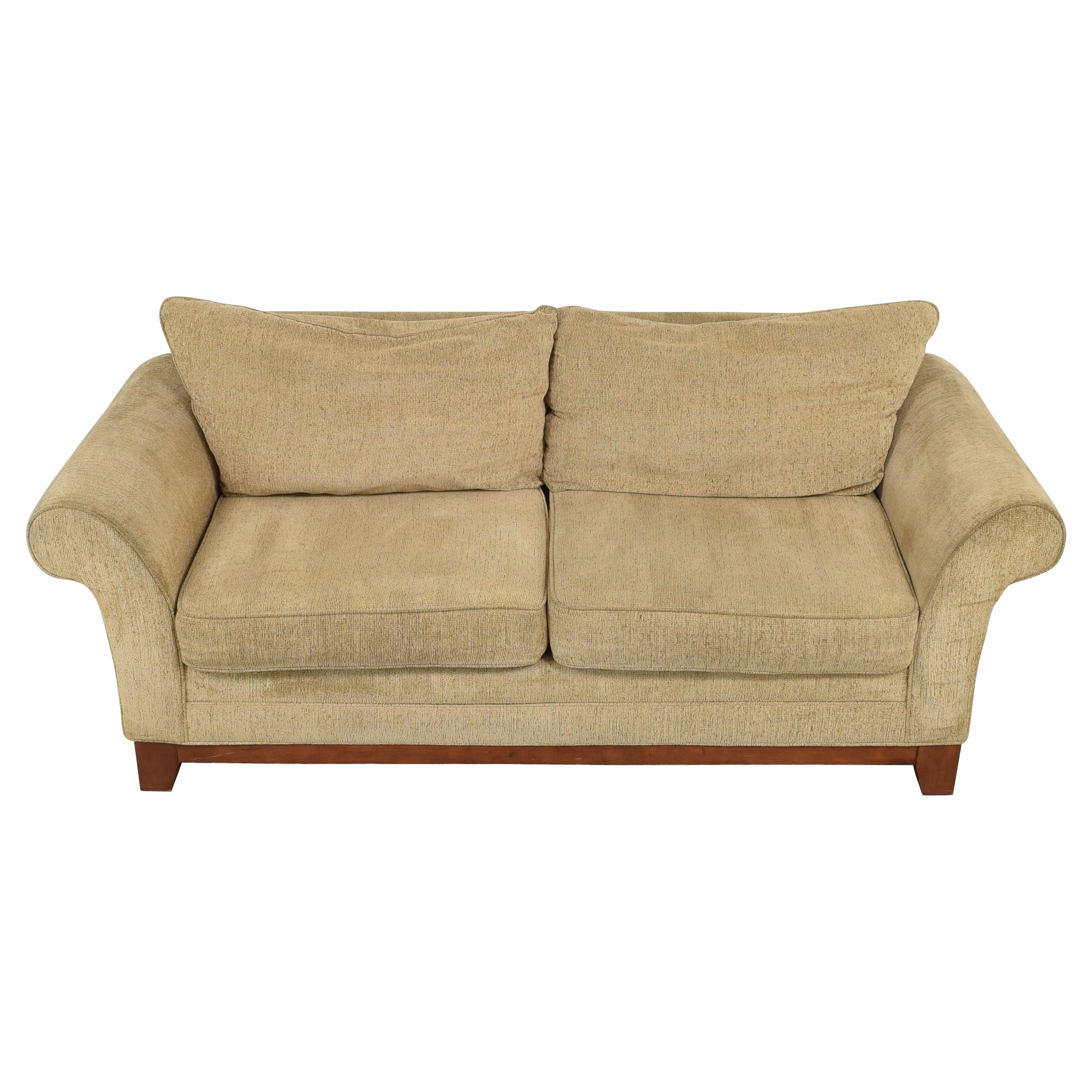 Rolled Arm Two Cushion Sofa