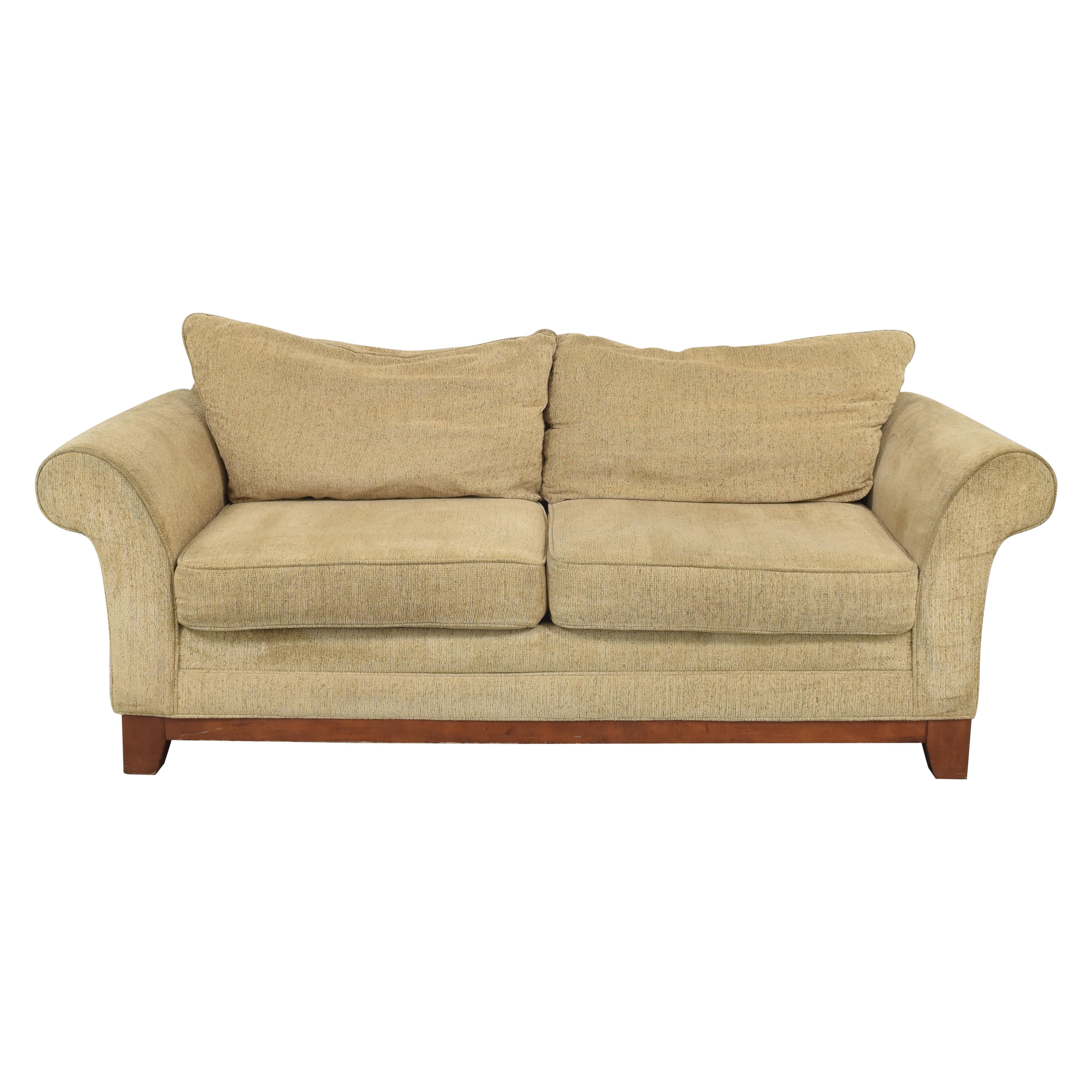 Rolled Arm Two Cushion Sofa nj