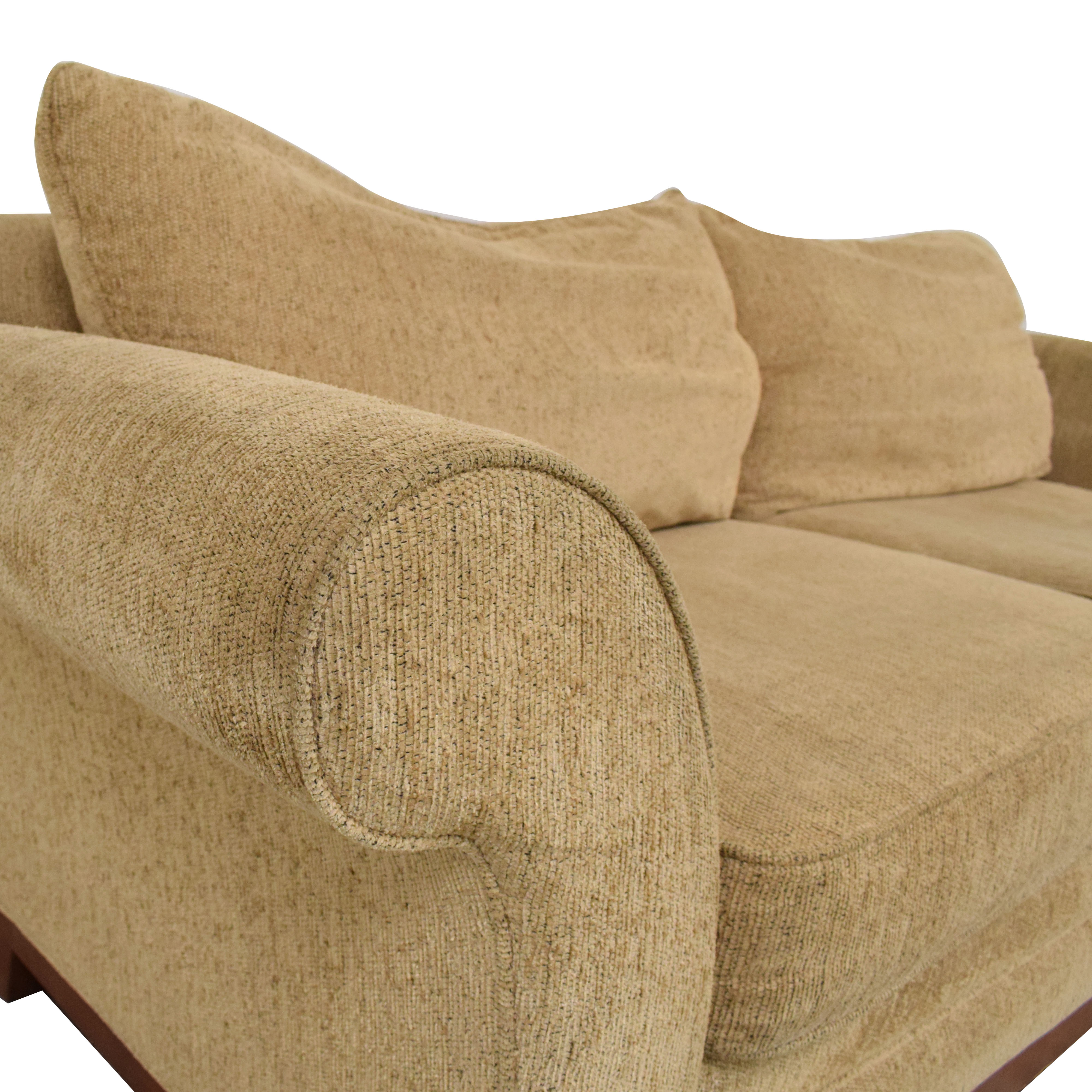 Rolled Arm Two Cushion Sofa on sale