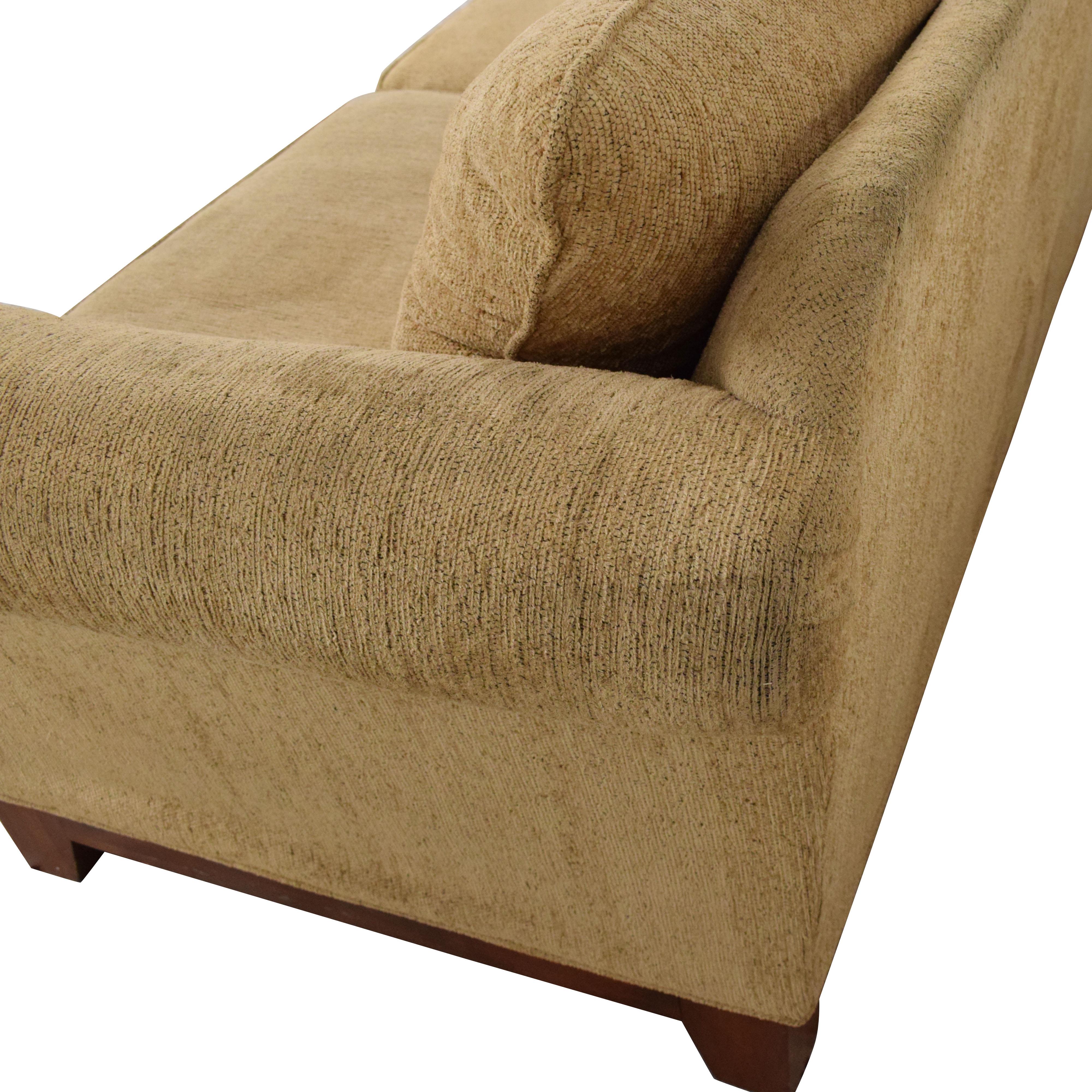 Rolled Arm Two Cushion Sofa Sofas