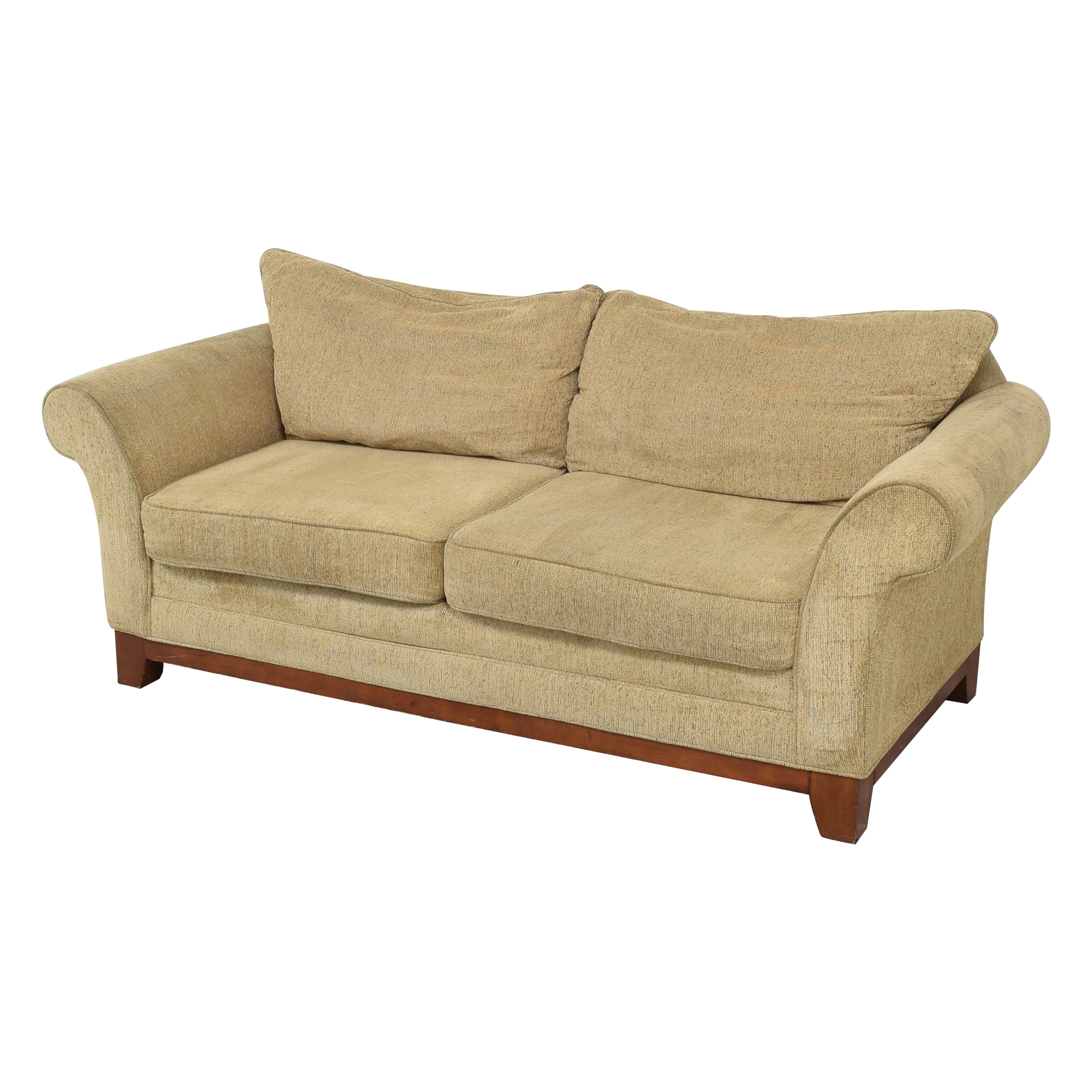 shop Rolled Arm Two Cushion Sofa