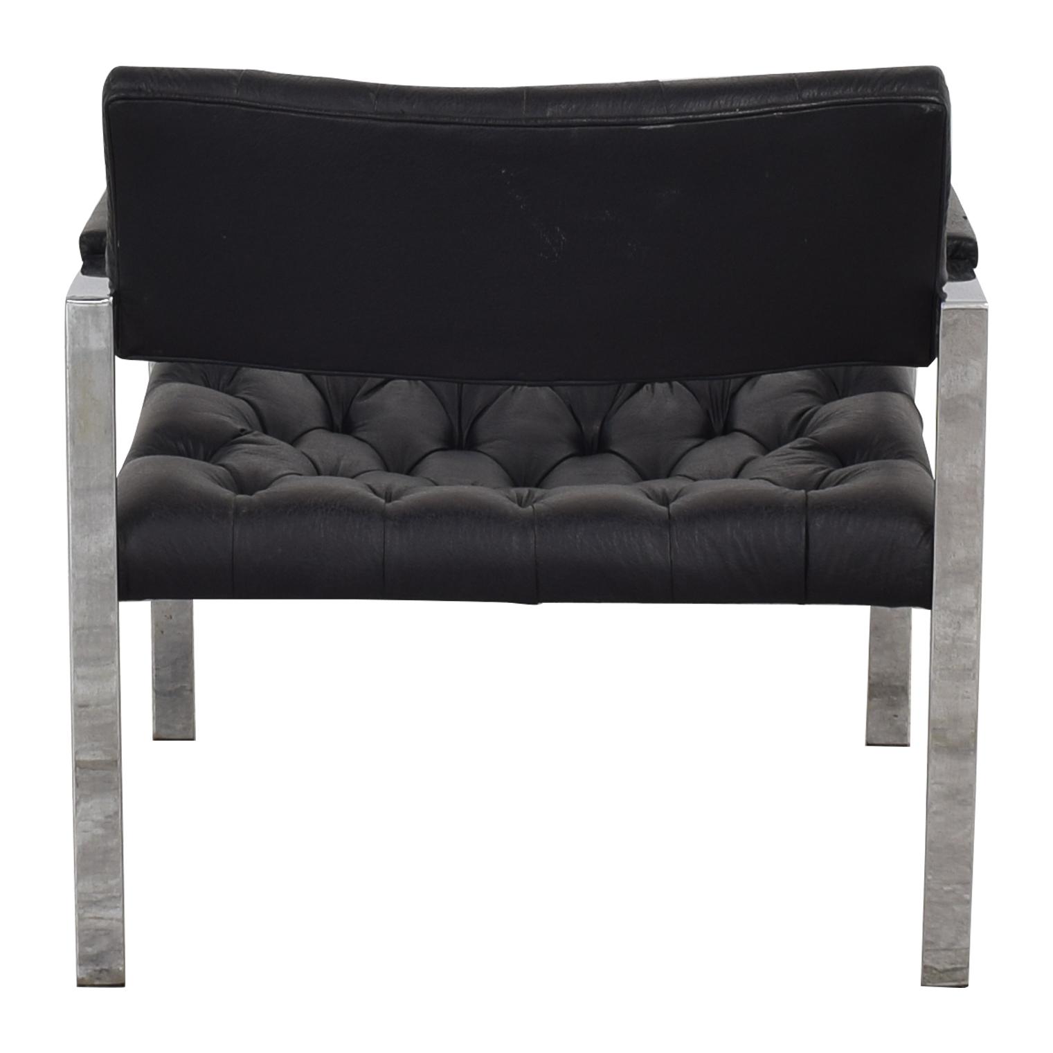 shop Thayer Coggin Milo Baughman for Thayer Coggin Black Tufted Arm Chair online