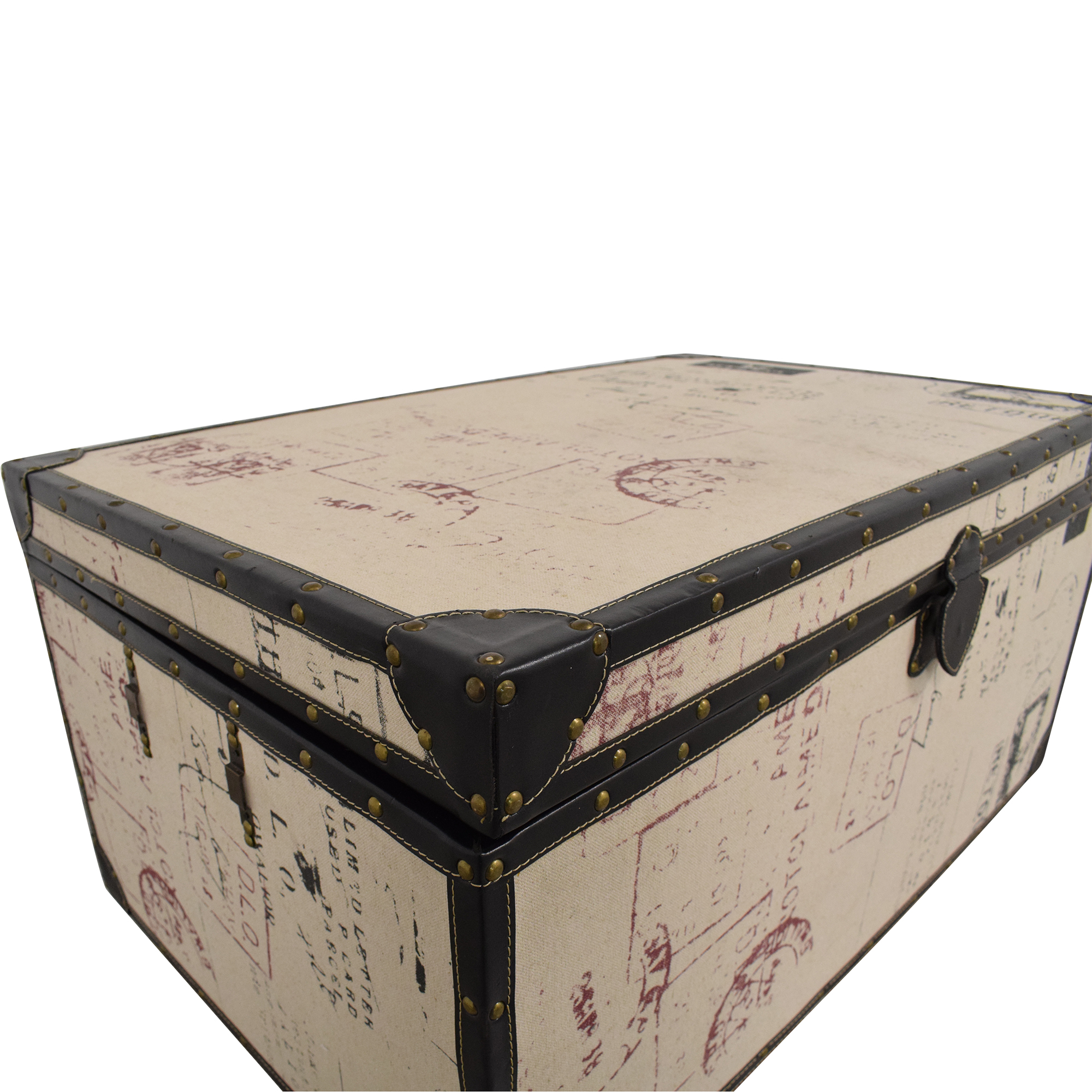 Postage Themed Storage Trunk discount