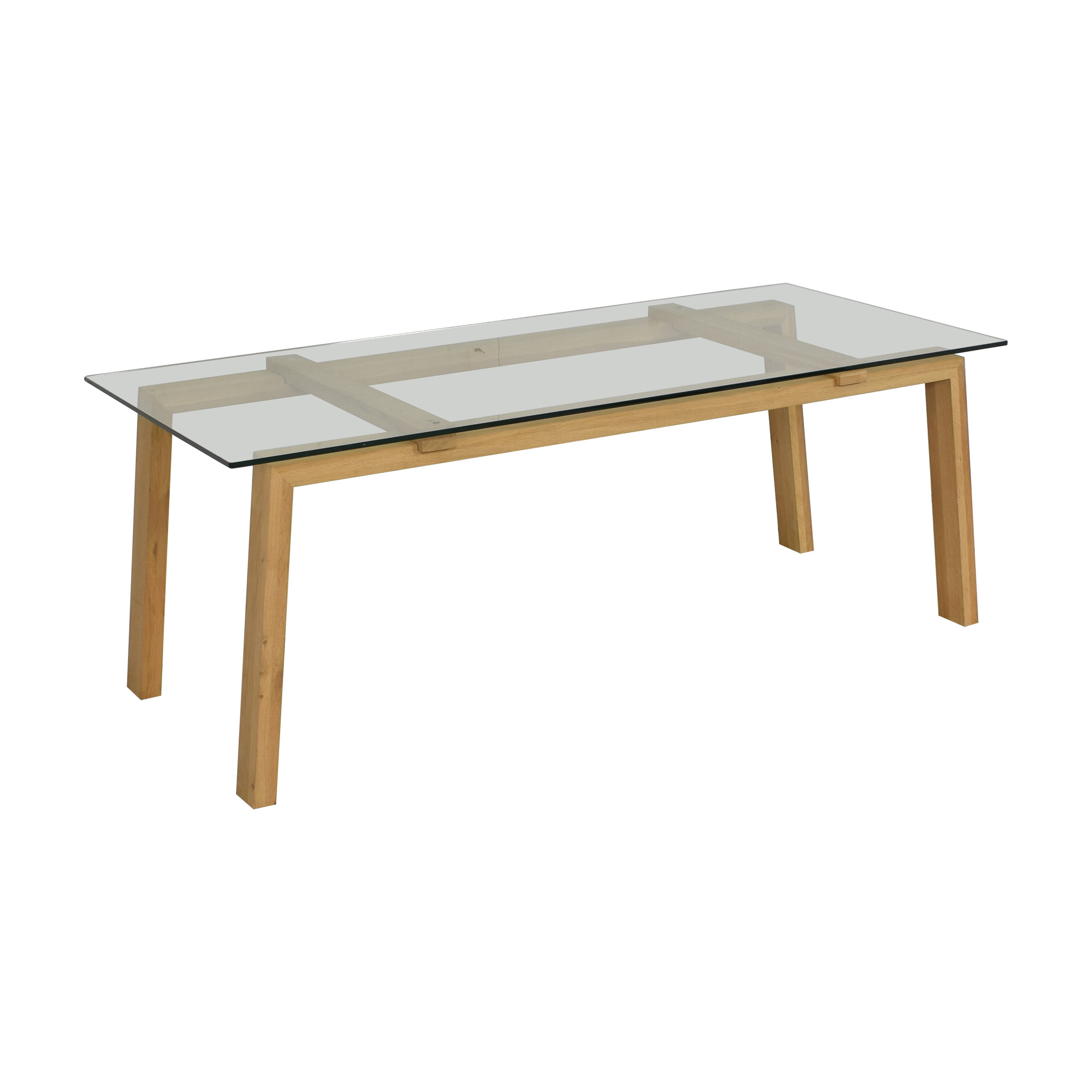 buy ABC Carpet & Home Ethnicraft Dining Table with Wood Base ABC Carpet & Home Tables