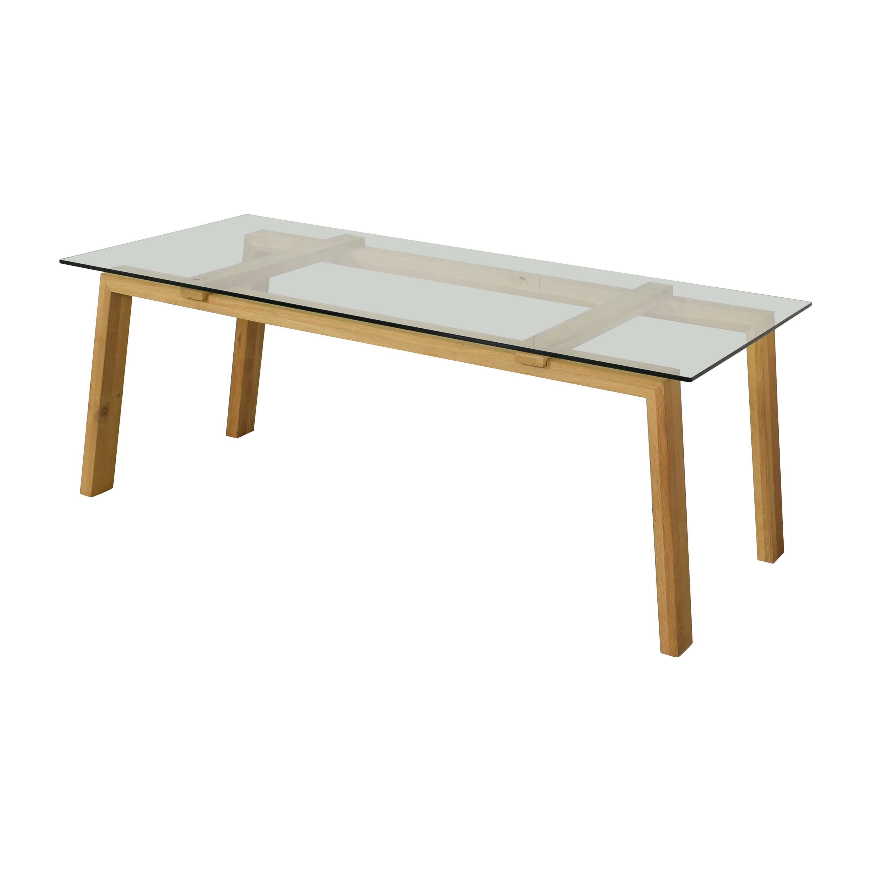 ABC Carpet & Home ABC Carpet & Home Ethnicraft Dining Table with Wood Base nj