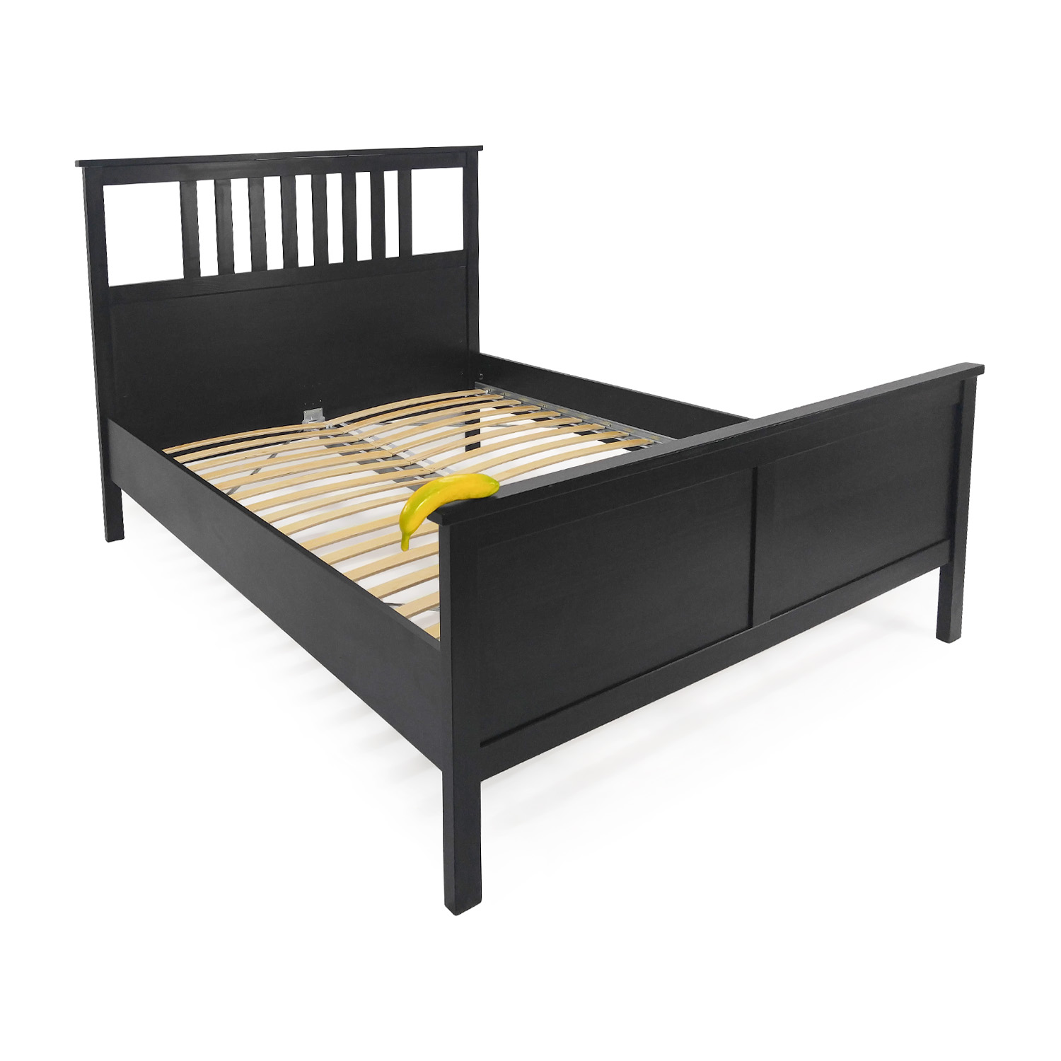 90 off ikea ikea dark chocolate queen bed frame beds. Black Bedroom Furniture Sets. Home Design Ideas