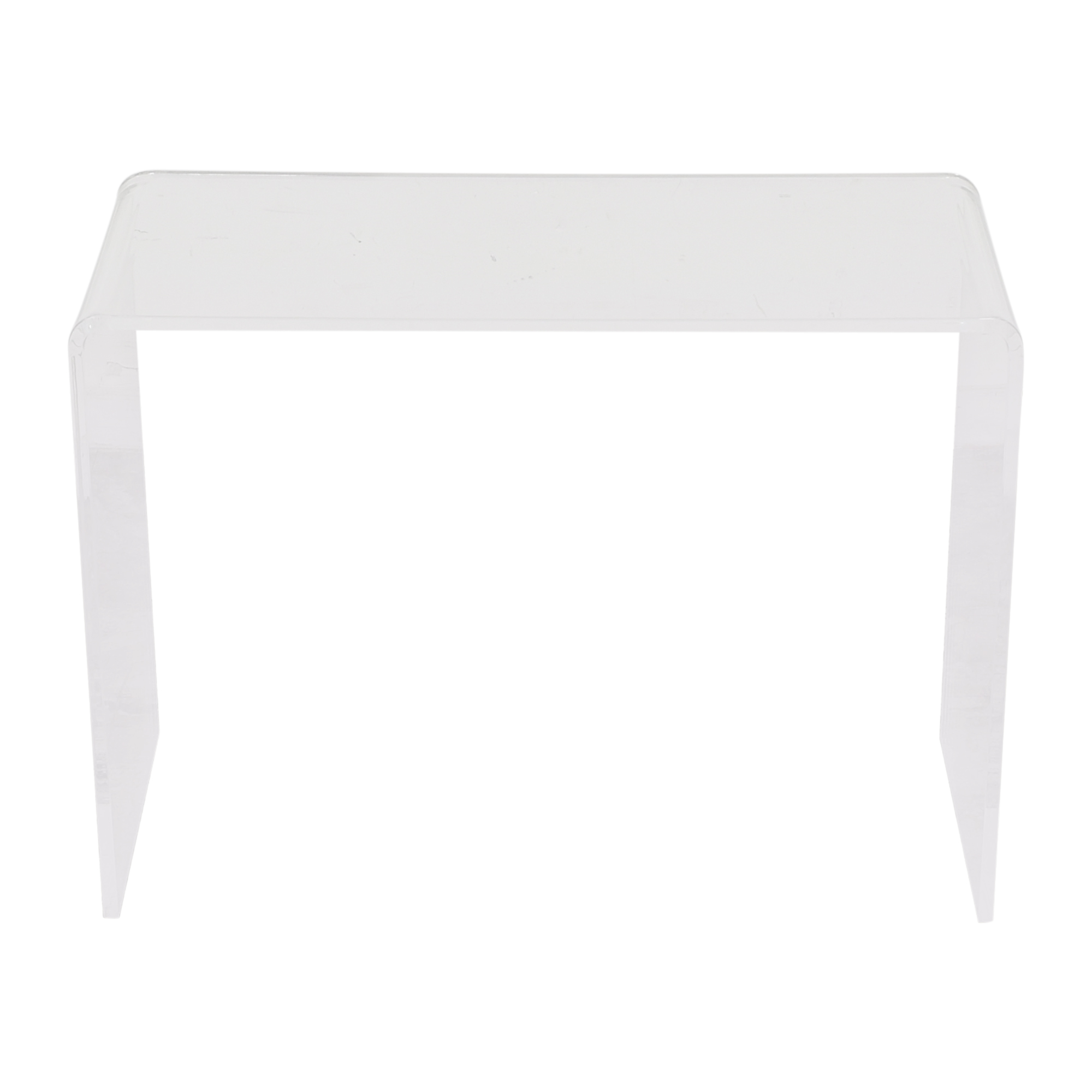 CB2 CB2 Peekaboo Acrylic Console Table clear