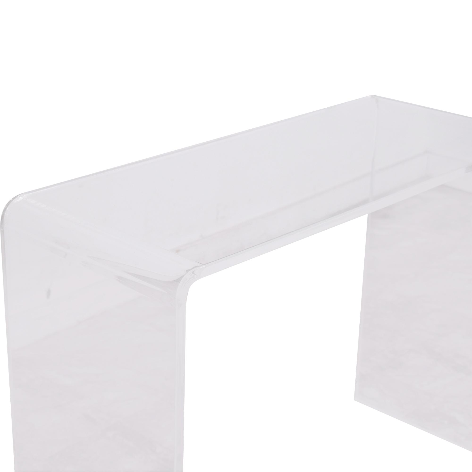 CB2 CB2 Peekaboo Acrylic Console Table discount