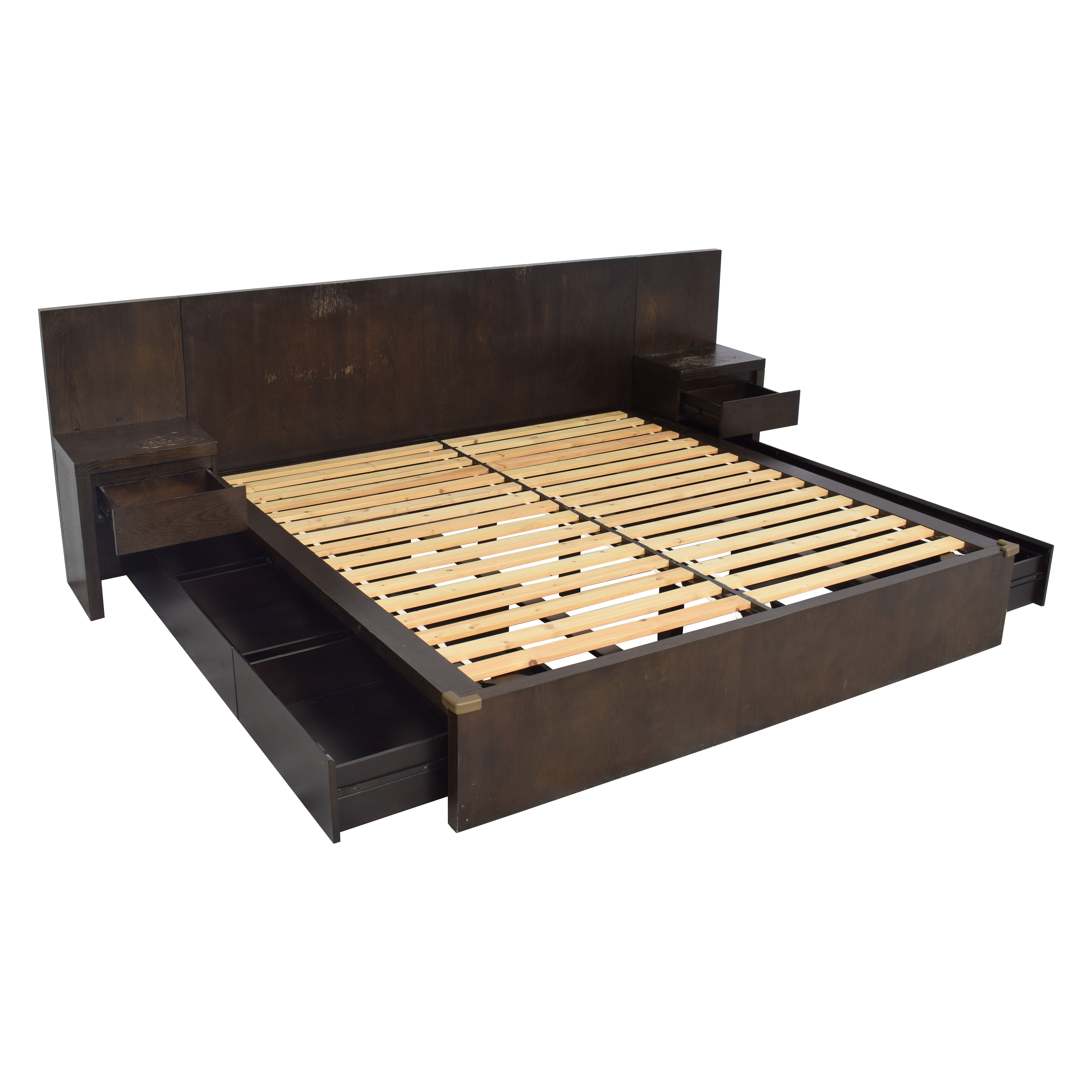 West Elm King Storage Bed with Nightstands sale