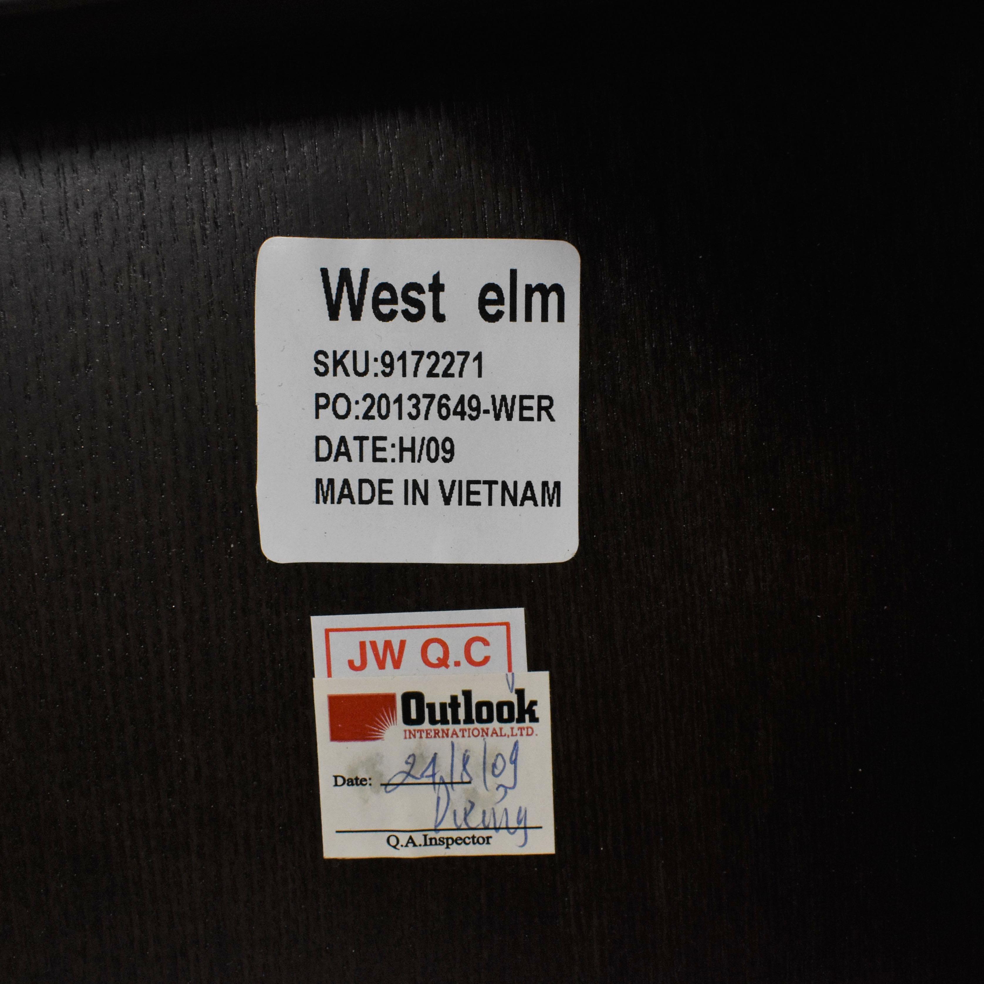 West Elm West Elm King Storage Bed with Nightstands dark brown