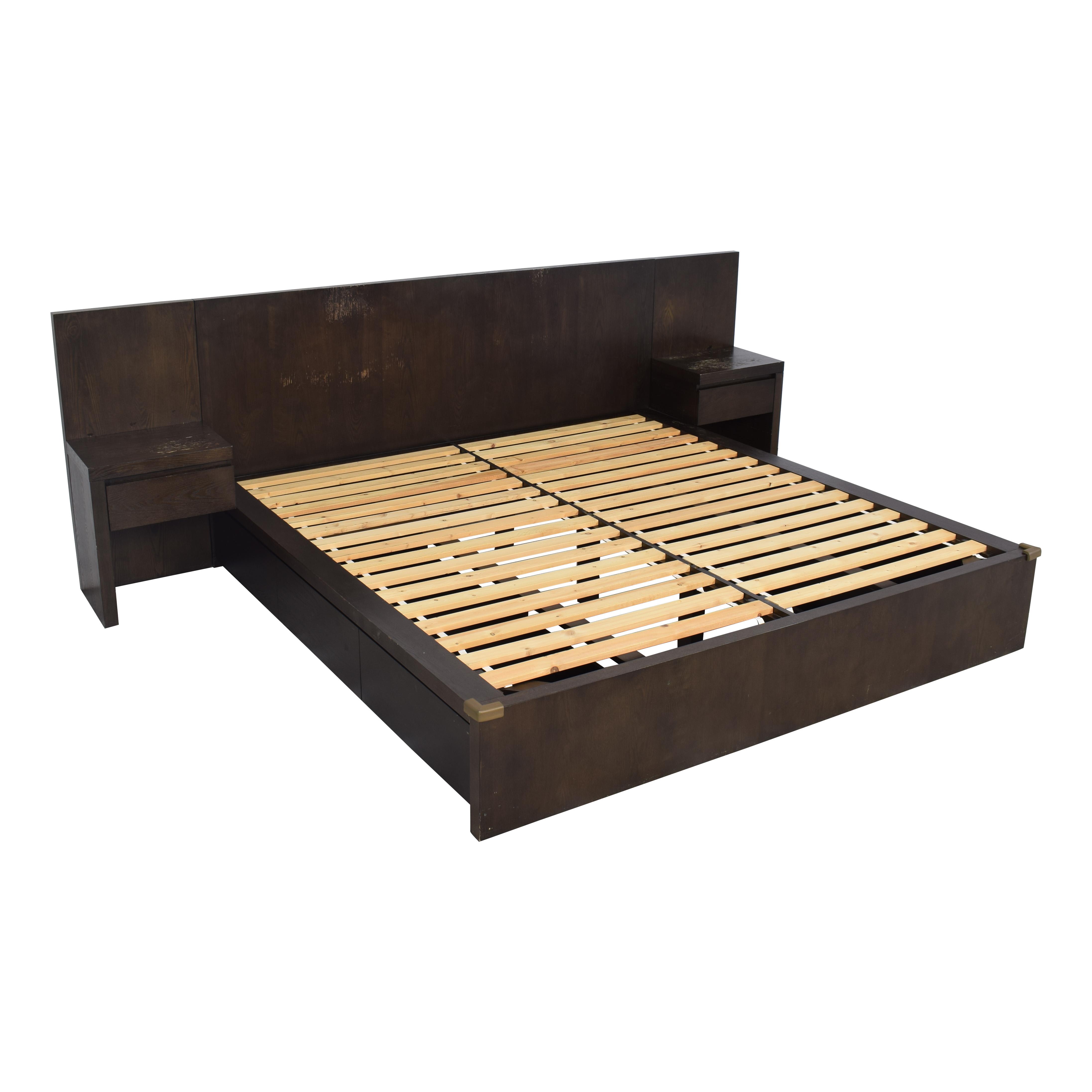 West Elm West Elm King Storage Bed with Nightstands discount