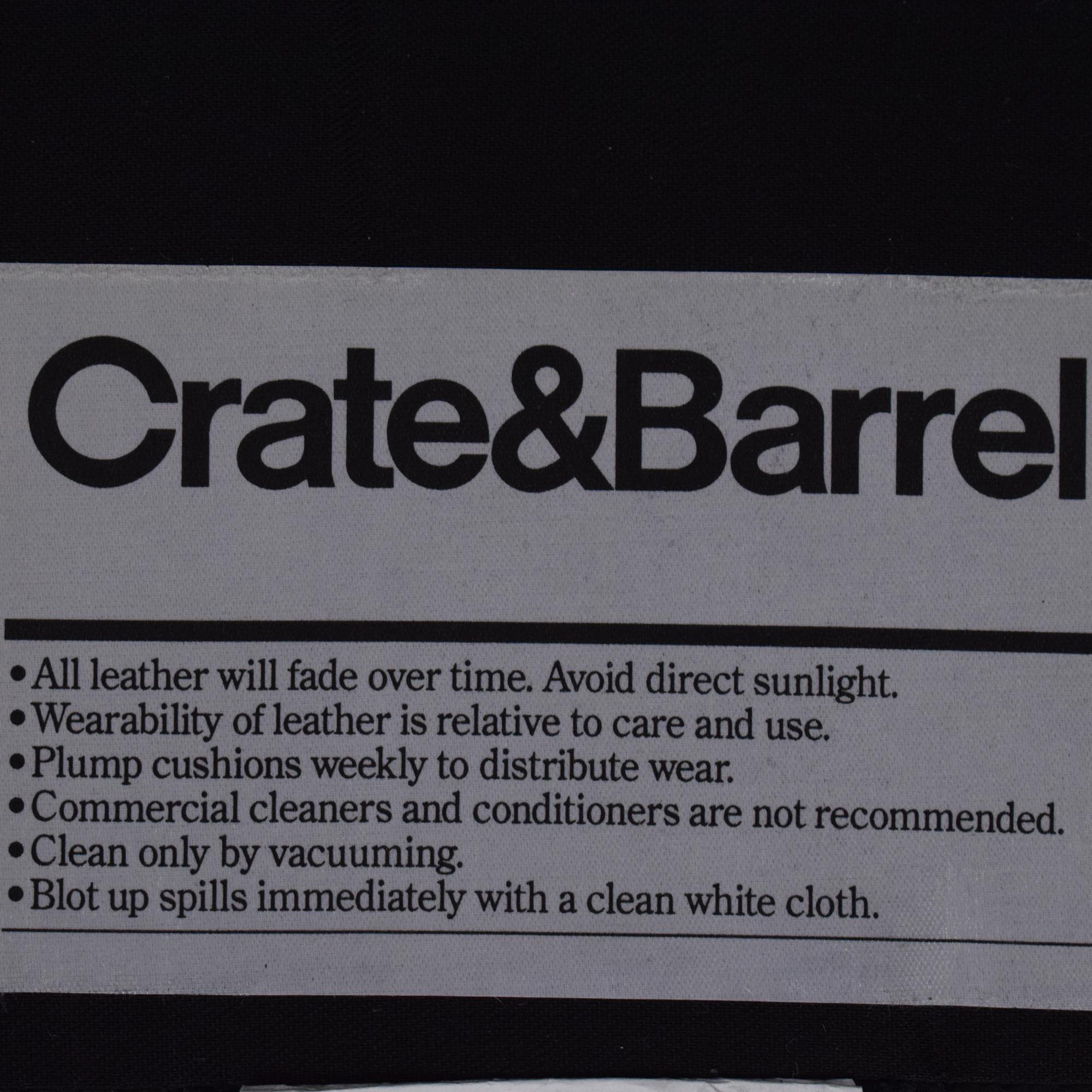 buy Crate & Barrel Tracy Leather Recliner Crate & Barrel