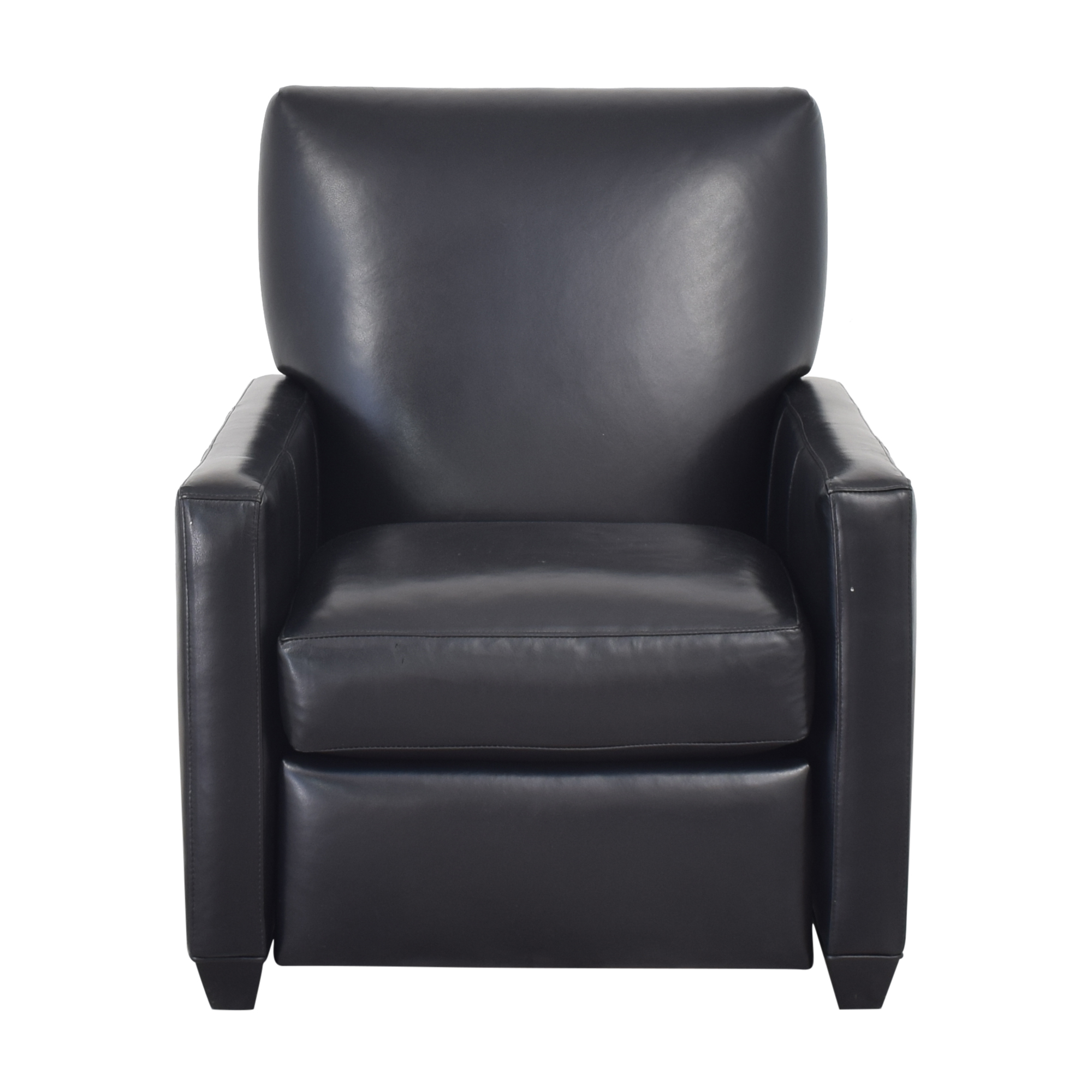 shop Crate & Barrel Tracy Leather Recliner Crate & Barrel Chairs