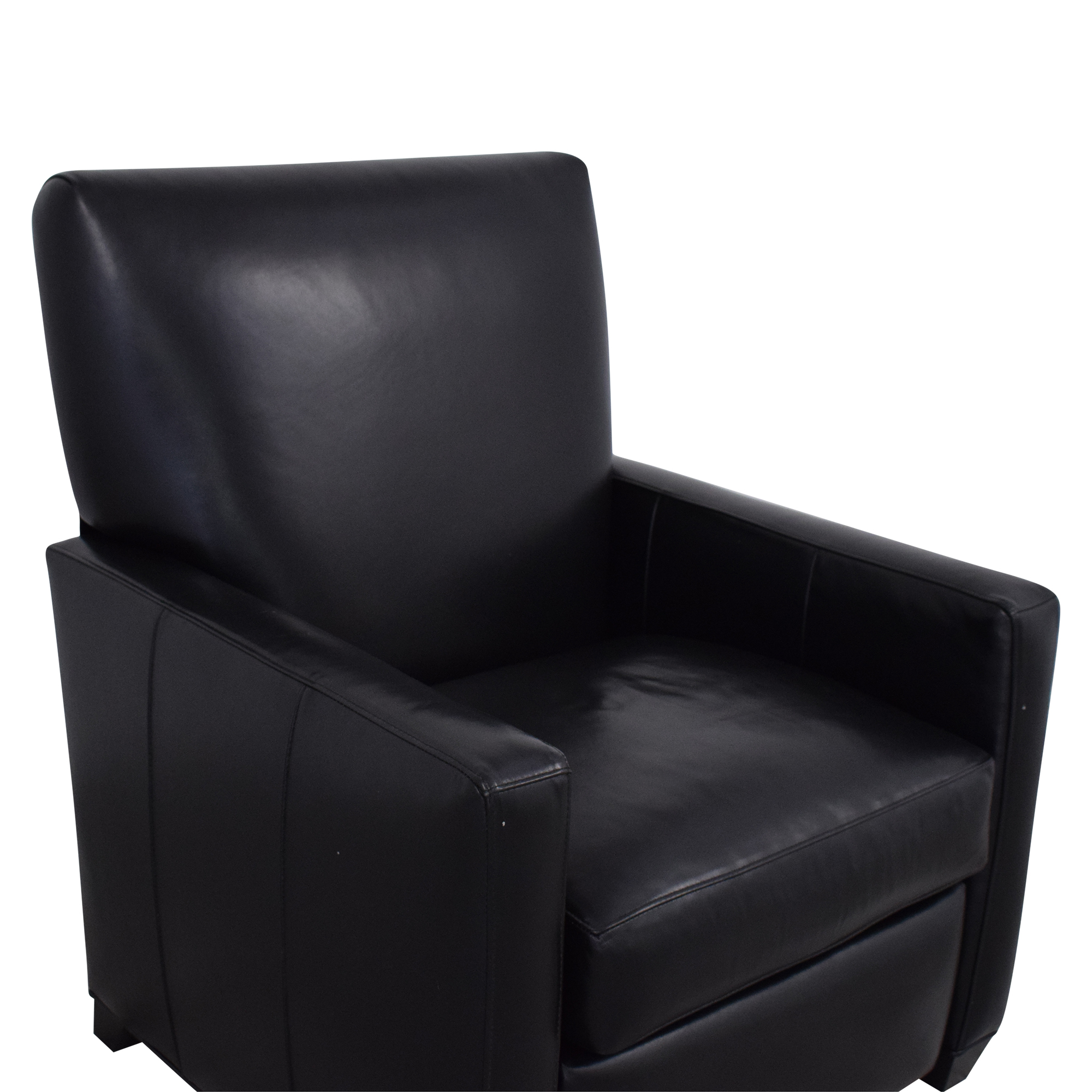 Crate & Barrel Crate & Barrel Tracy Leather Recliner for sale