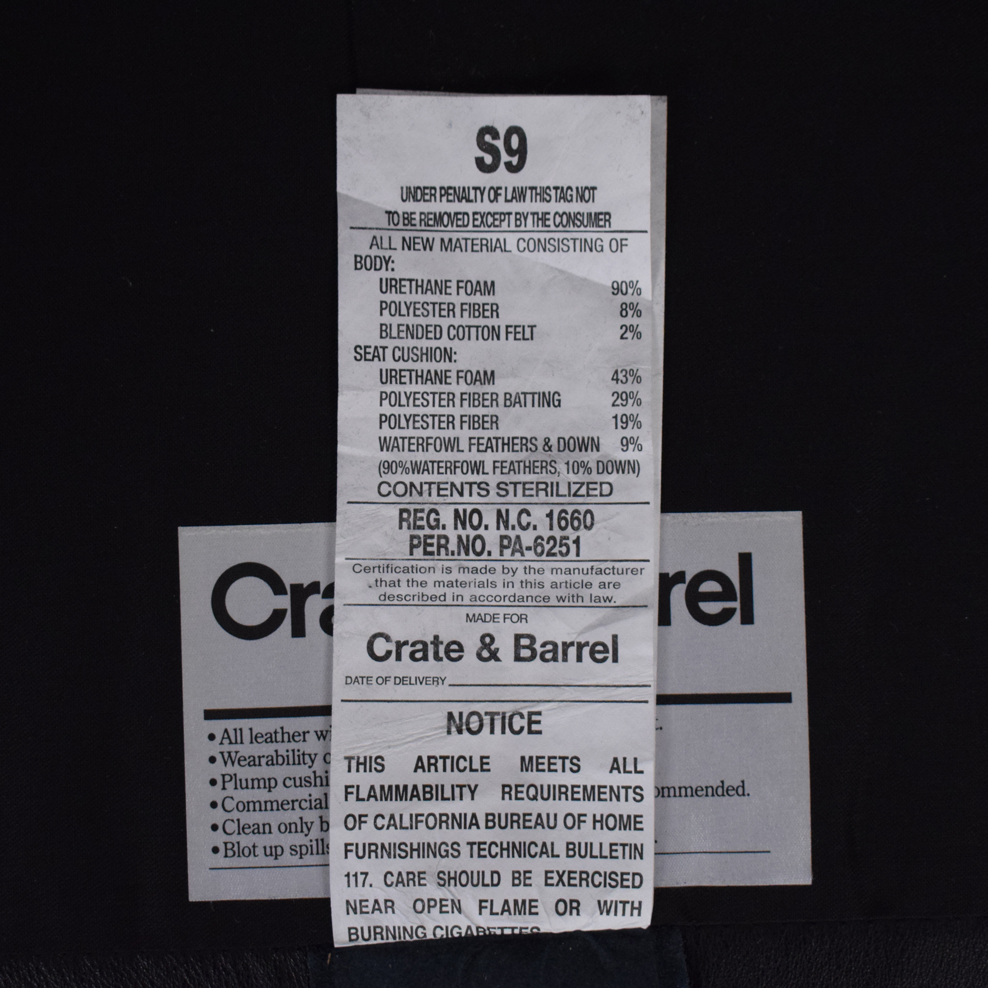 Crate & Barrel Crate & Barrel Tracy Leather Recliner price