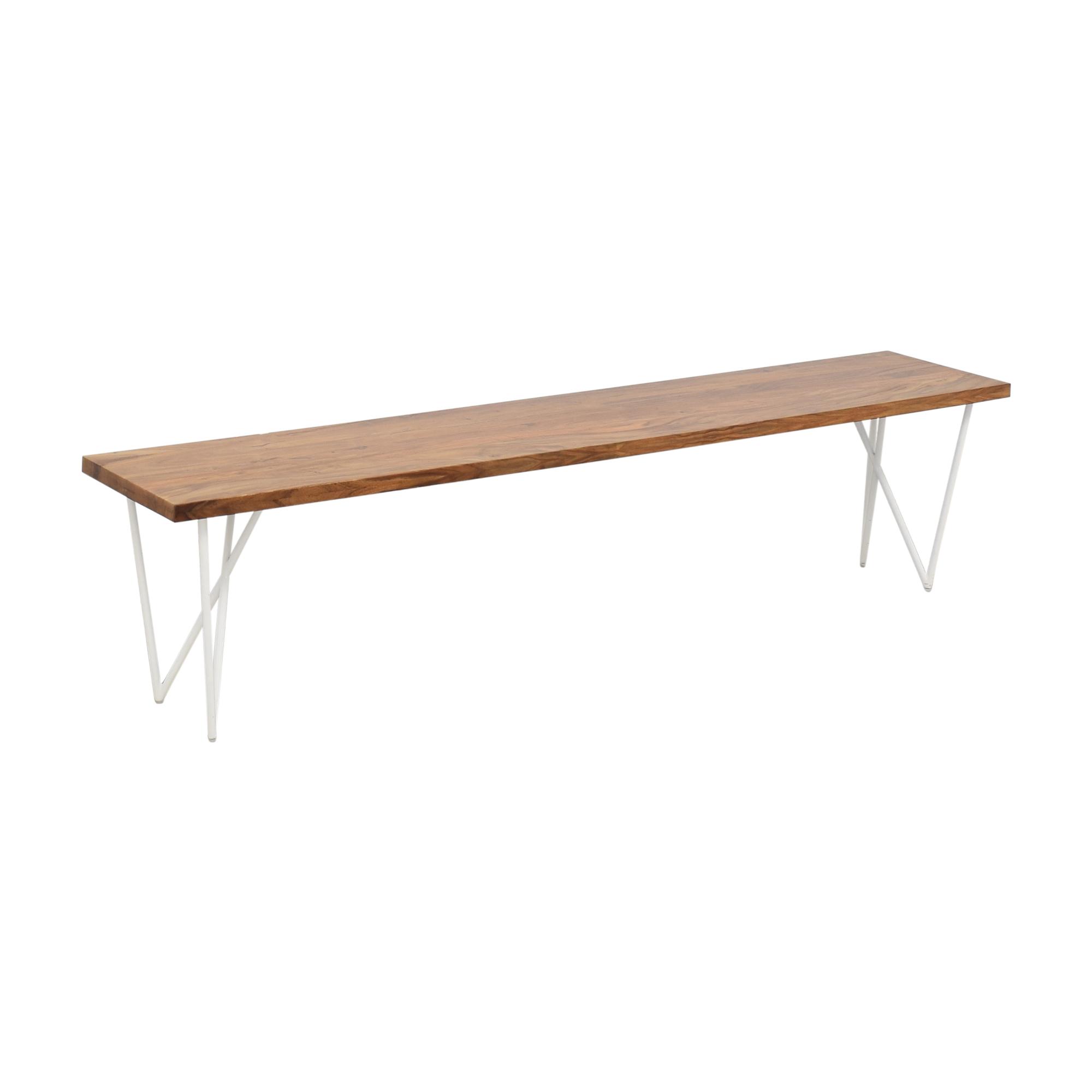 CB2 CB2 Wood Bench nyc