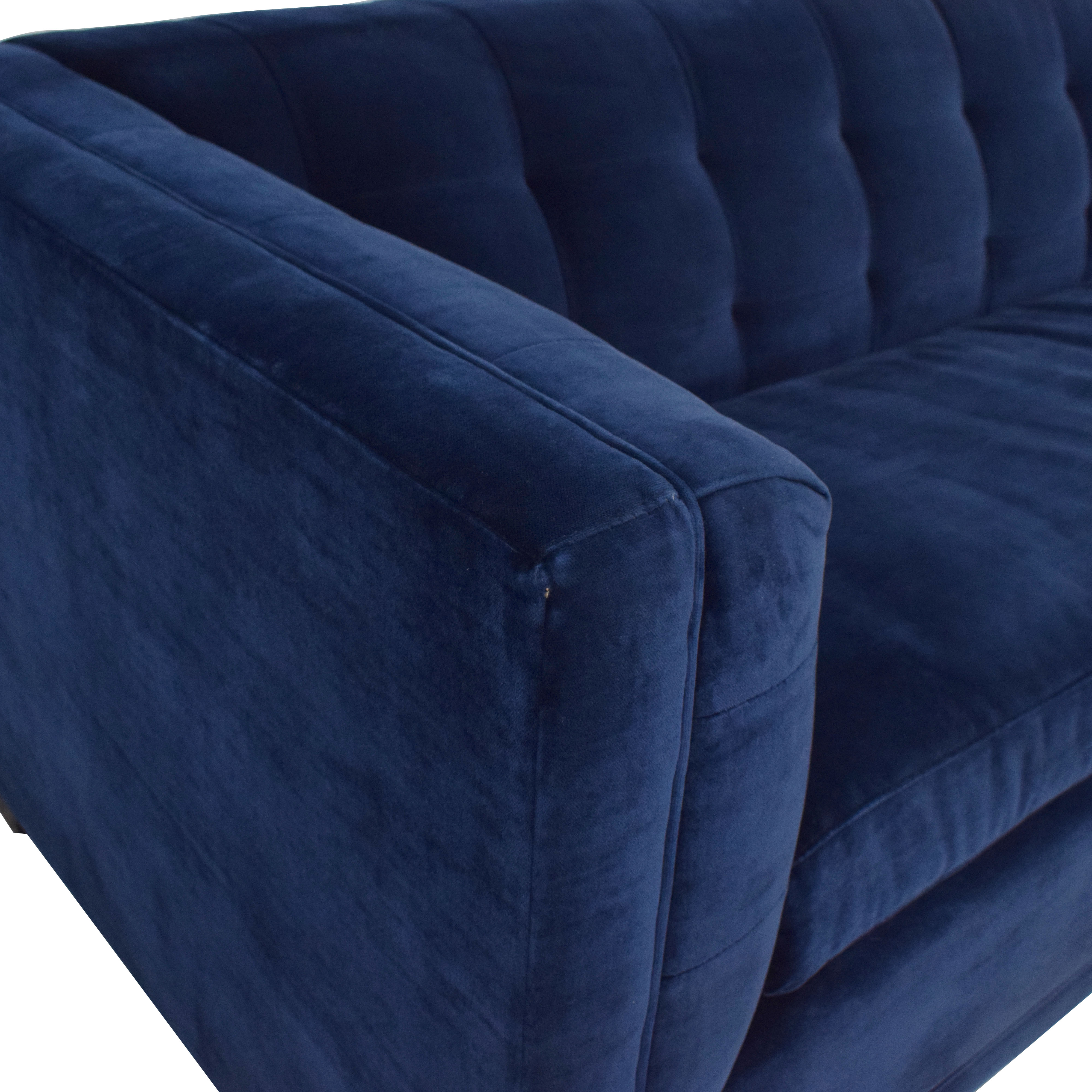 buy Crate & Barrel Tufted Queen Sleeper Sofa Crate & Barrel