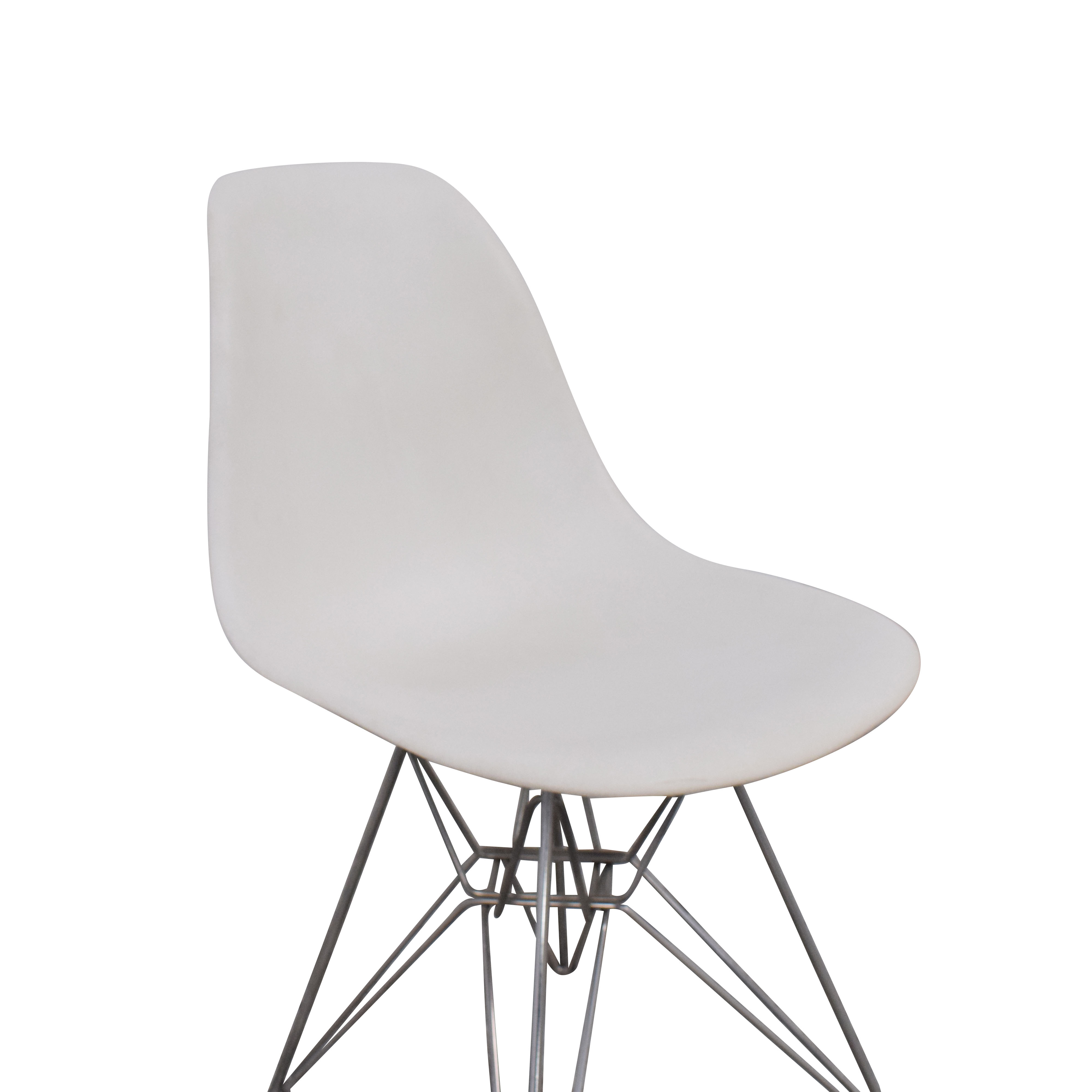 shop Herman Miller Eames Molded Plastic Dining Chair with Wire Base Herman Miller Dining Chairs