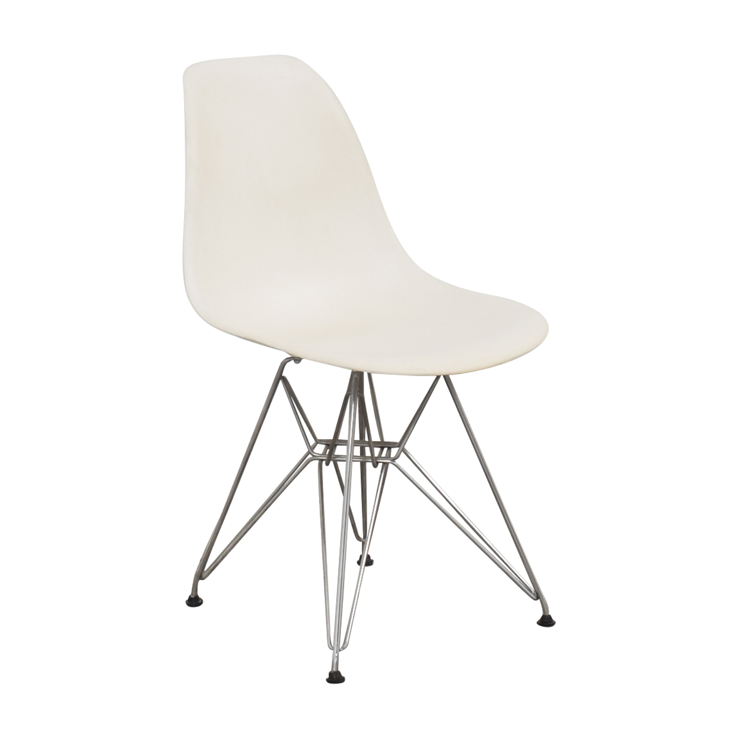 Herman Miller Herman Miller Eames Molded Plastic Dining Chair with Wire Base for sale