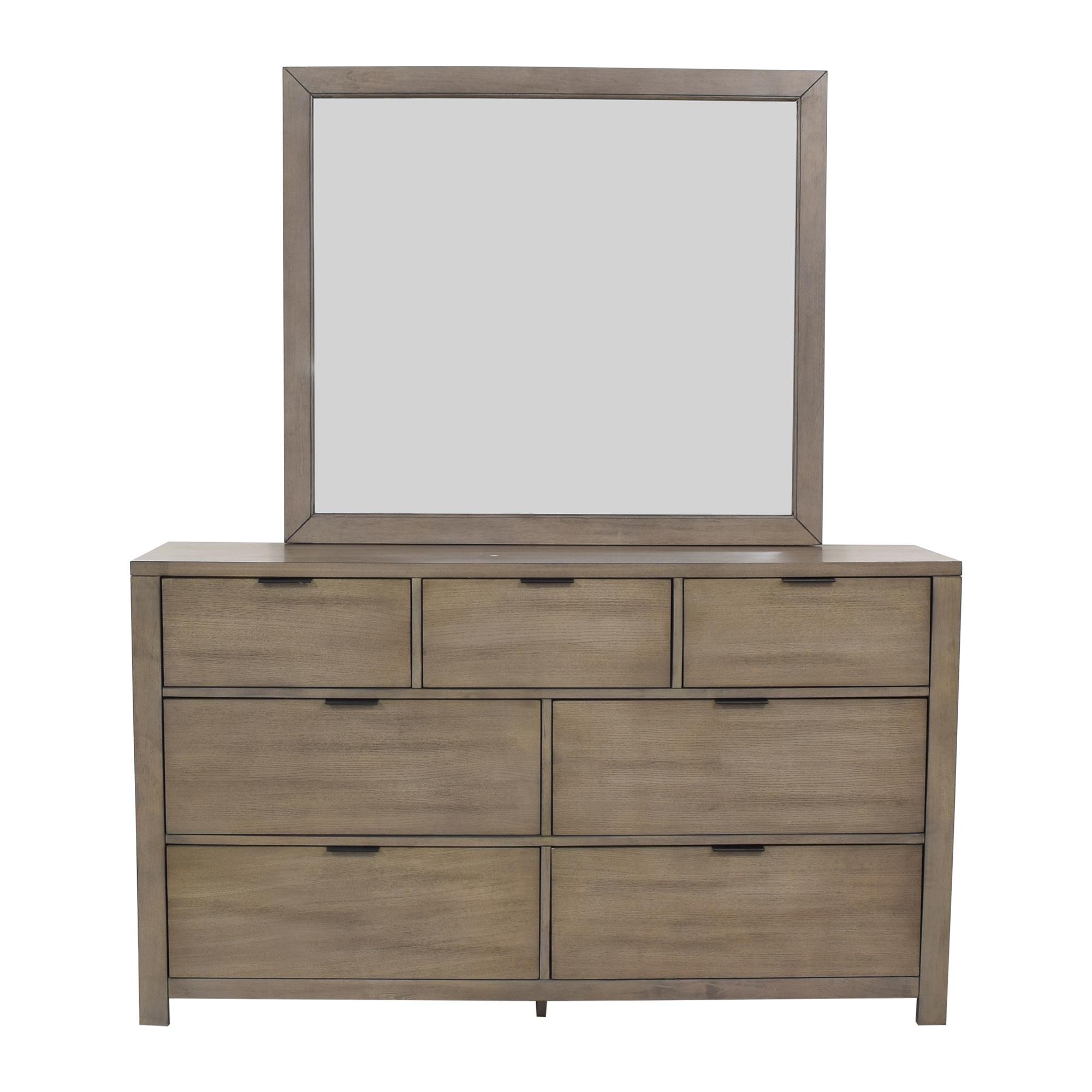 buy Home Meridian Tribeca Dresser and Landscape Mirror Home Meridian Storage
