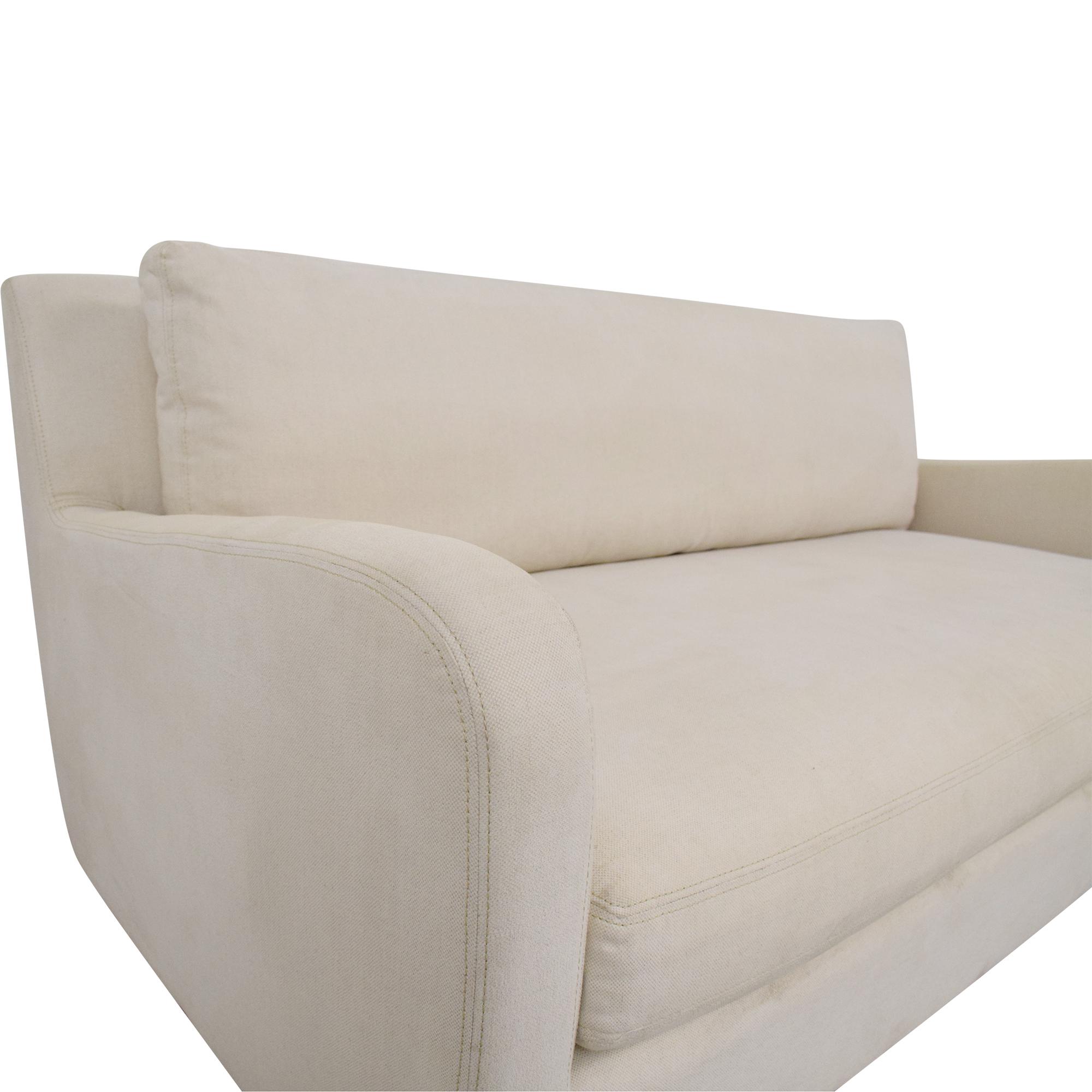 buy Restoration Hardware Belgian Slope Arm Sofa Restoration Hardware