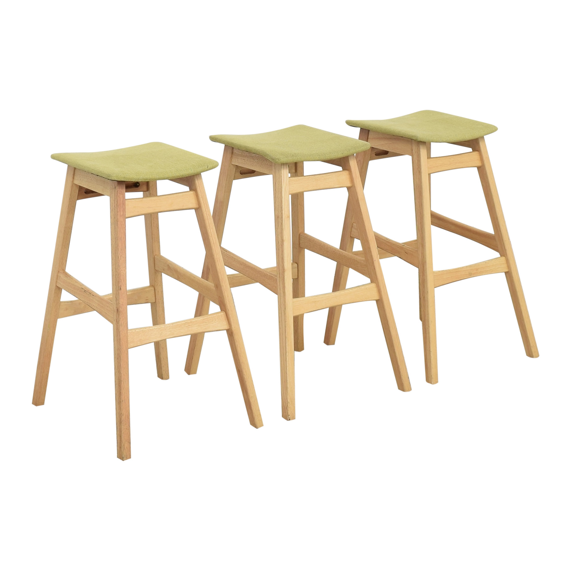 shop Noble House Noble House Teak Bar Stools with Green Cushion online